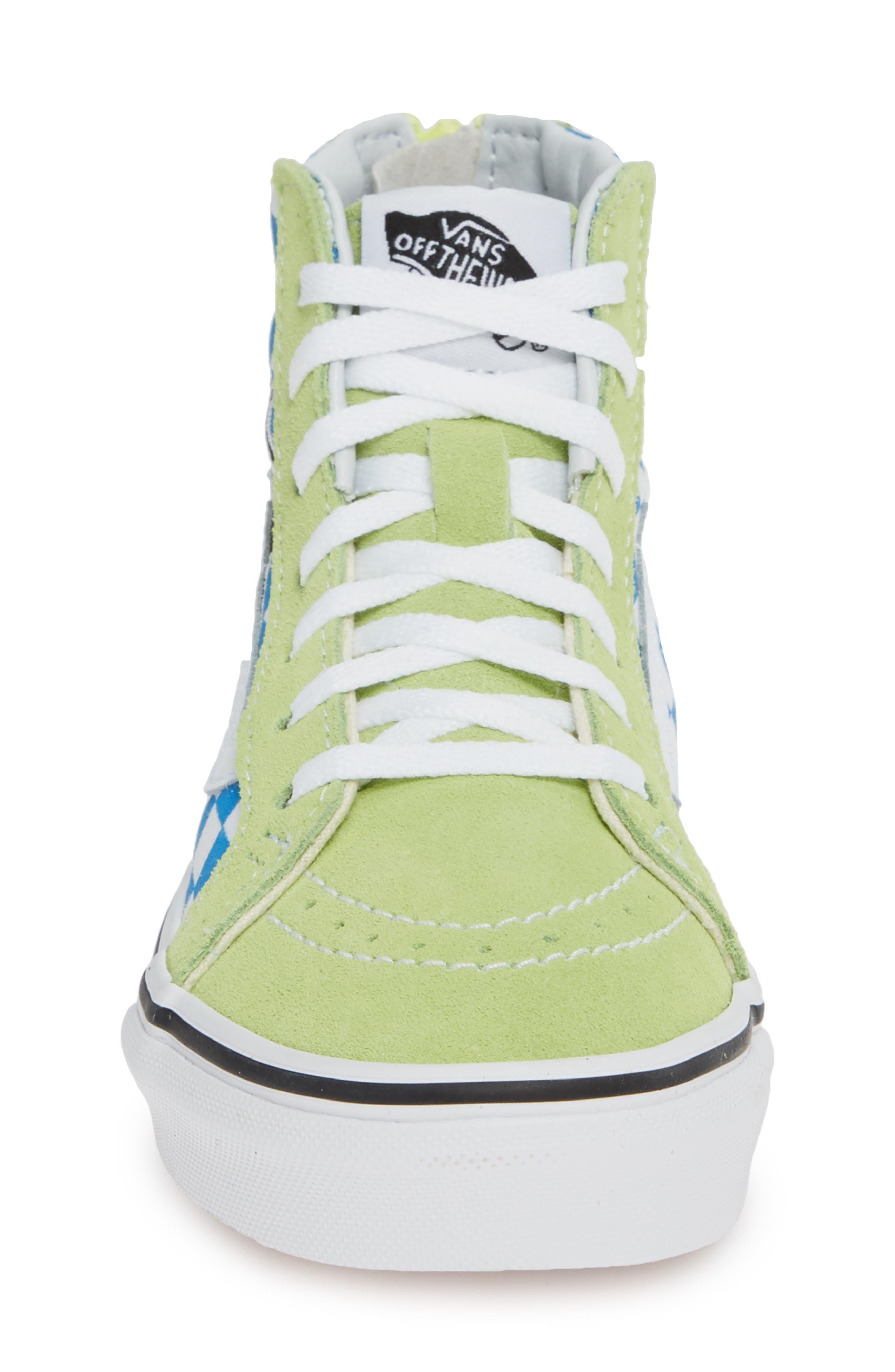 'Sk8-Hi' Sneaker,                             Alternate thumbnail 4, color,                             SHARP GREEN/ PINK LEMONADE