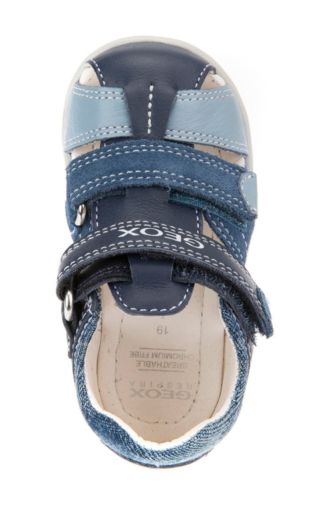 'Kaytan' Sandal,                             Alternate thumbnail 5, color,                             NAVY/ AVIO