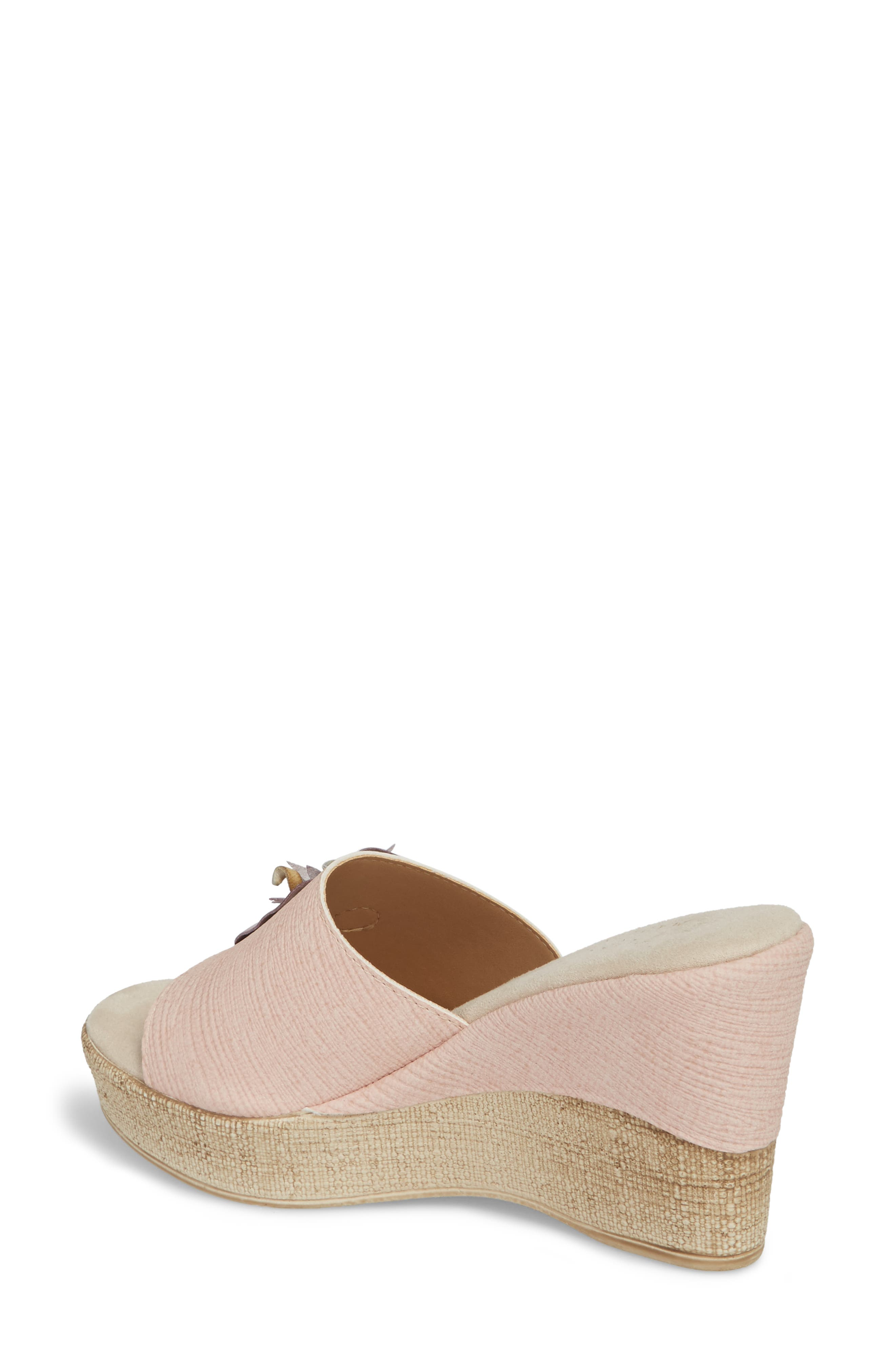 by Easy Street<sup>®</sup> Castello Wedge Slide,                             Alternate thumbnail 2, color,                             BLUSH FAUX LEATHER