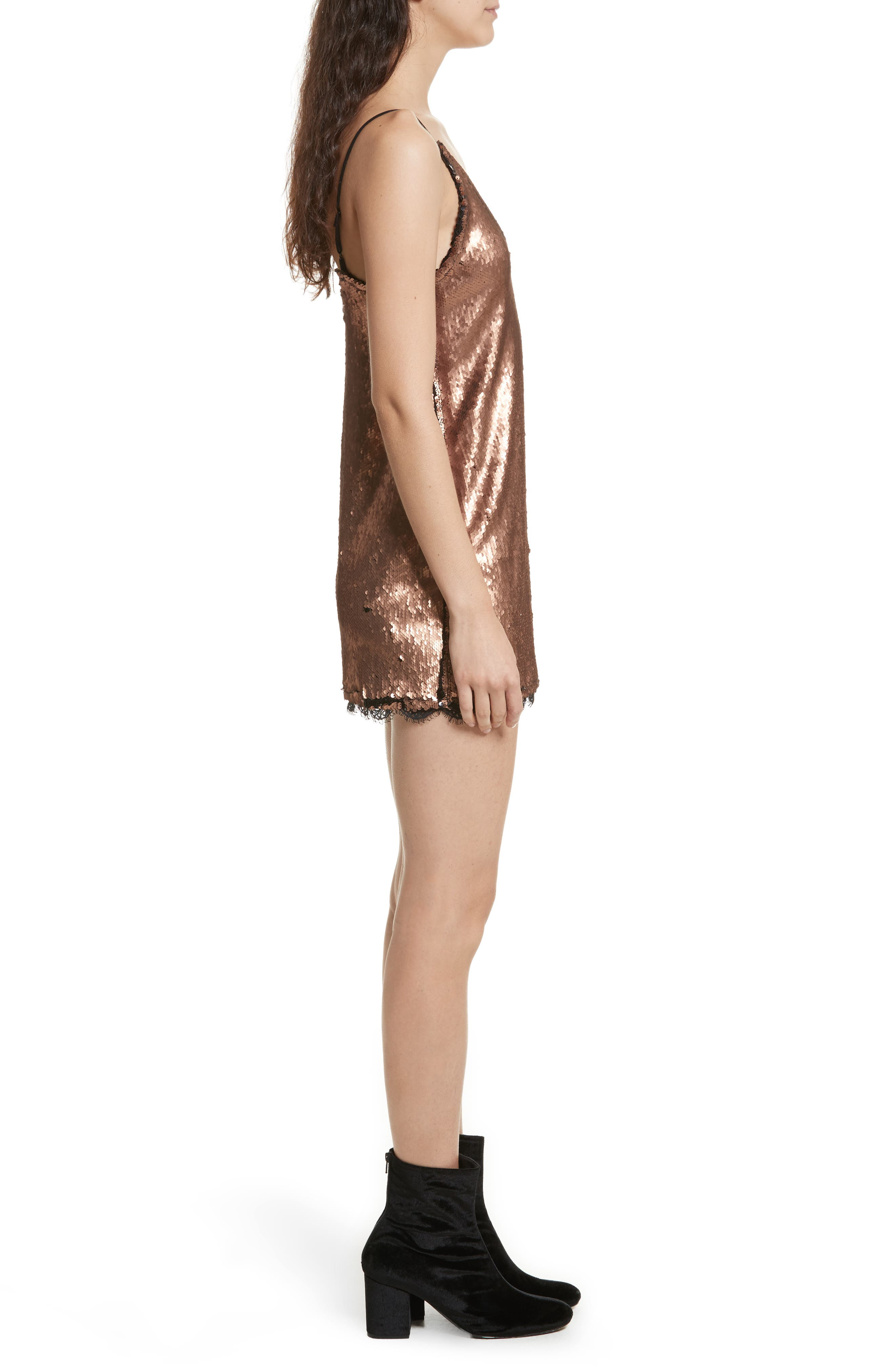 Seeing Double Sequin Slipdress,                             Alternate thumbnail 3, color,                             019