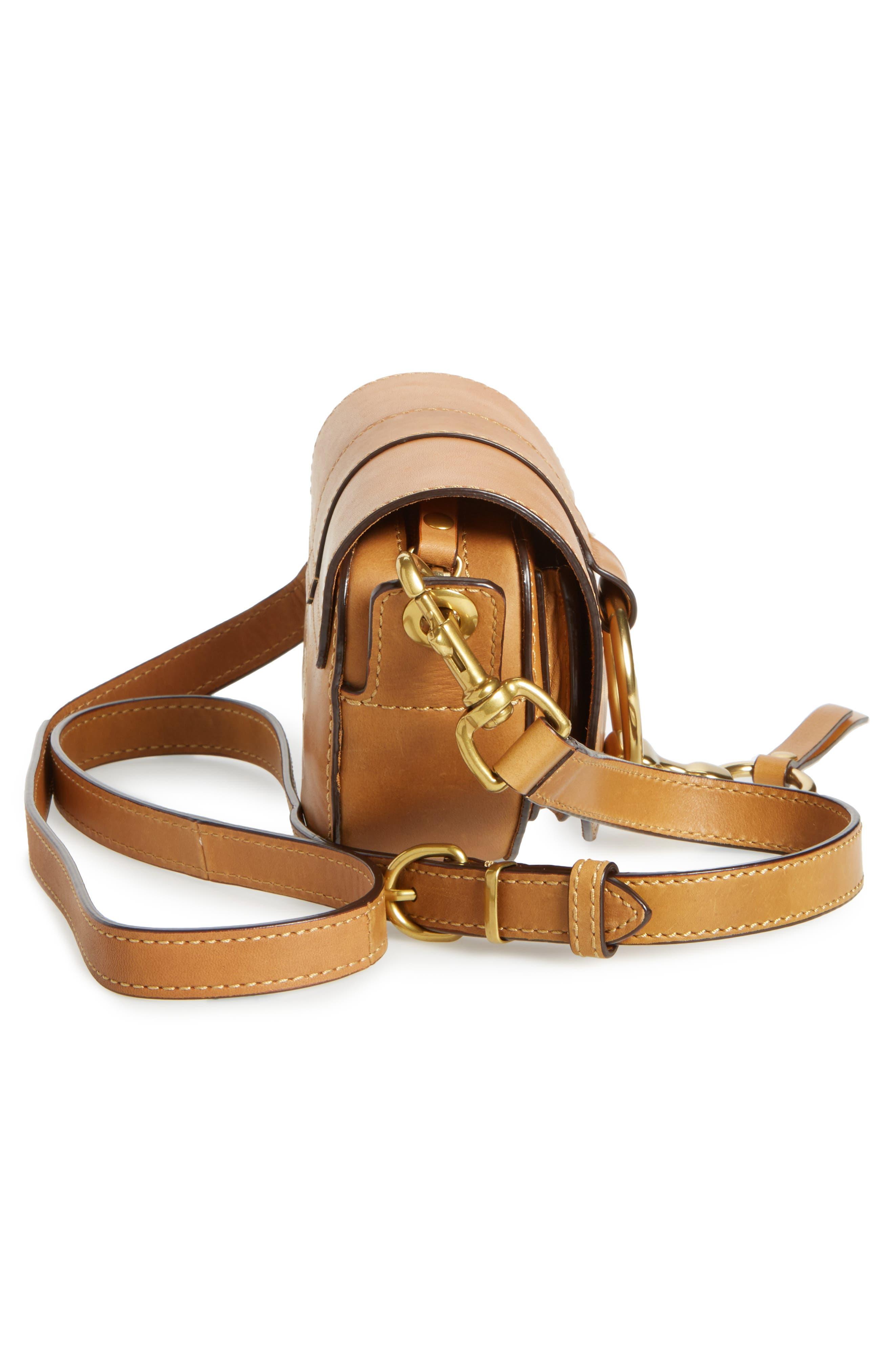 Mini Ilana Harness Leather Saddle Bag,                             Alternate thumbnail 10, color,