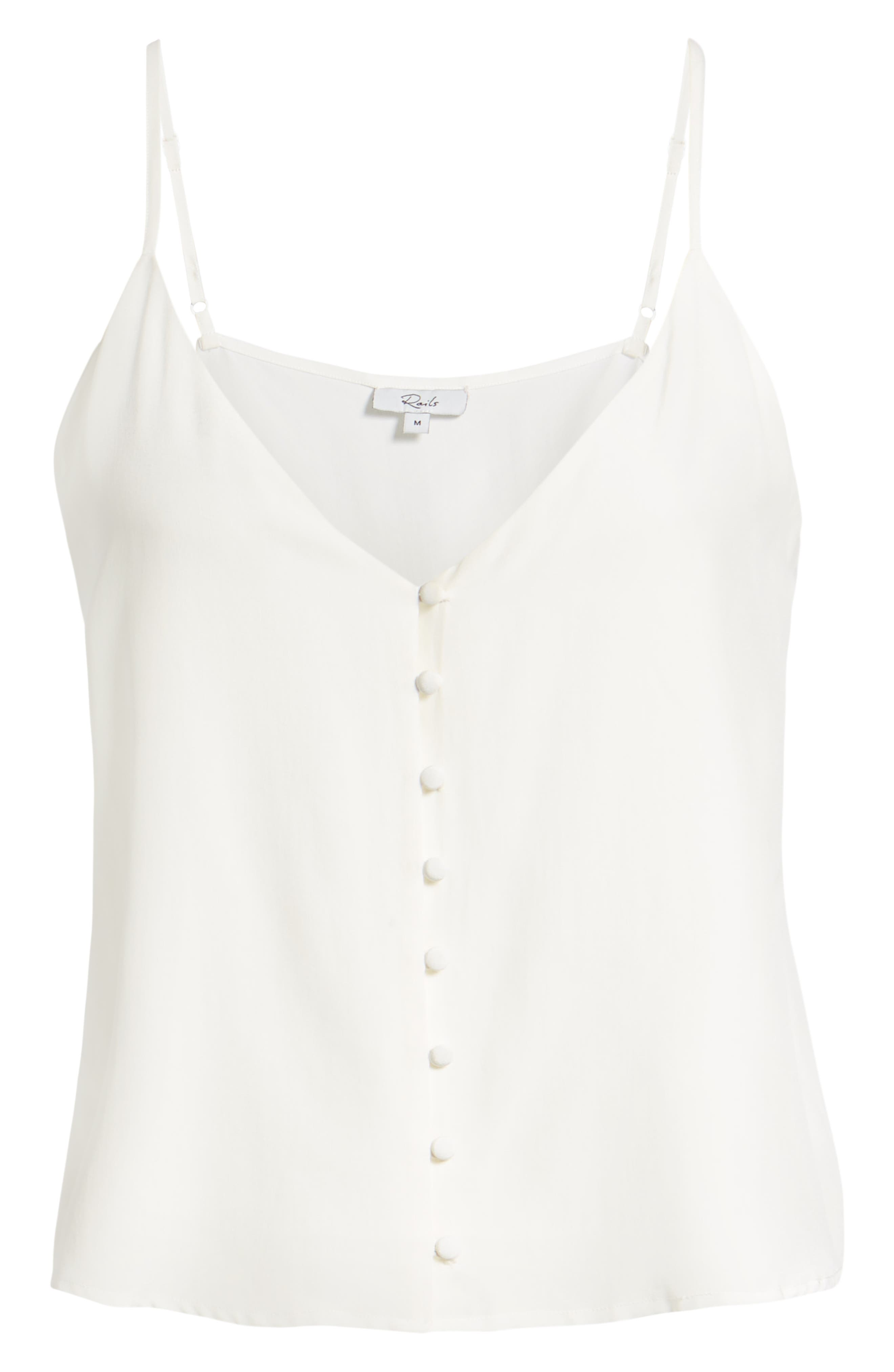 Aubry Silk Camisole,                             Alternate thumbnail 6, color,                             IVORY