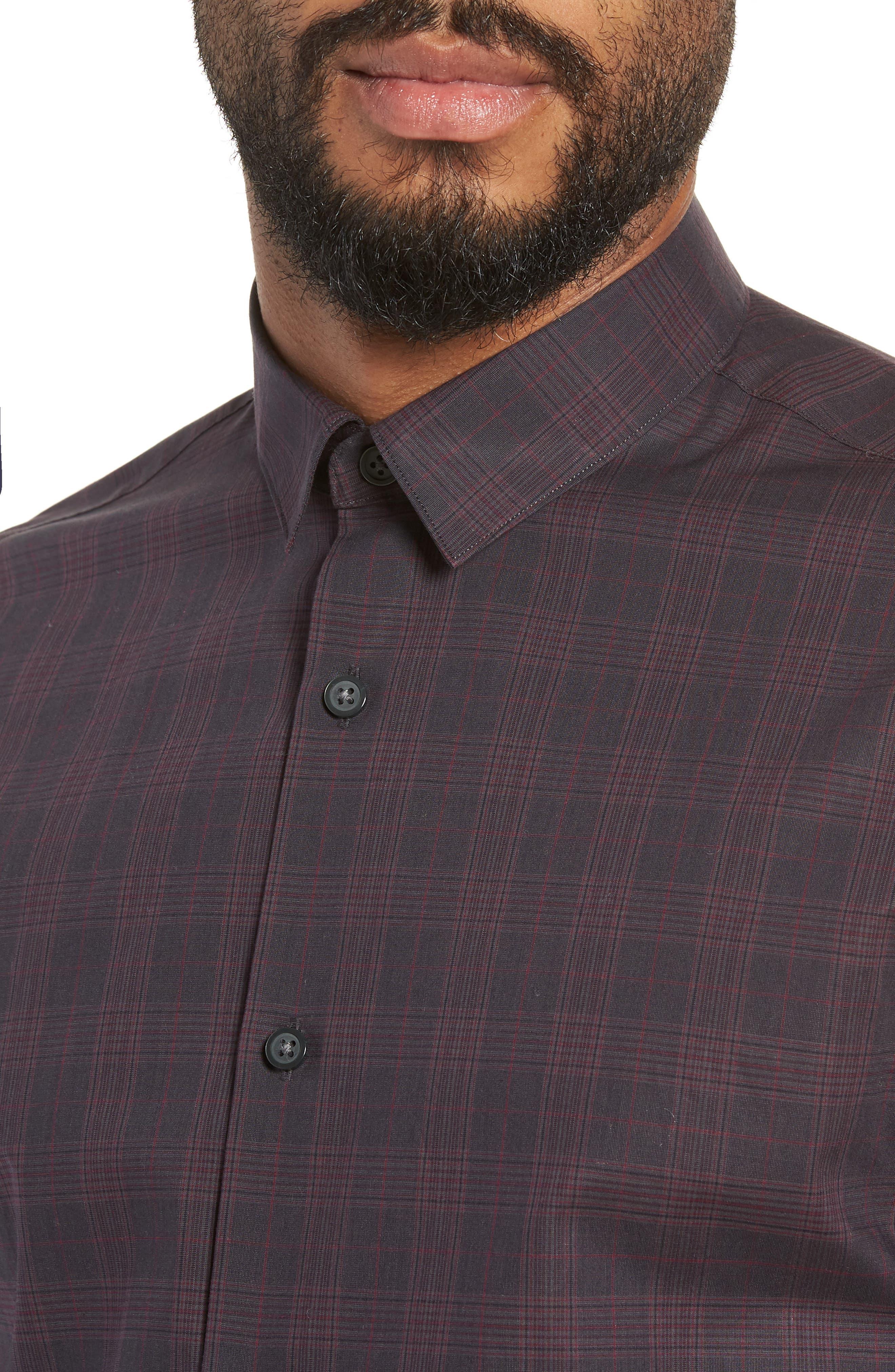 Regaron Regular Fit Check Sport Shirt,                             Alternate thumbnail 2, color,                             GREY
