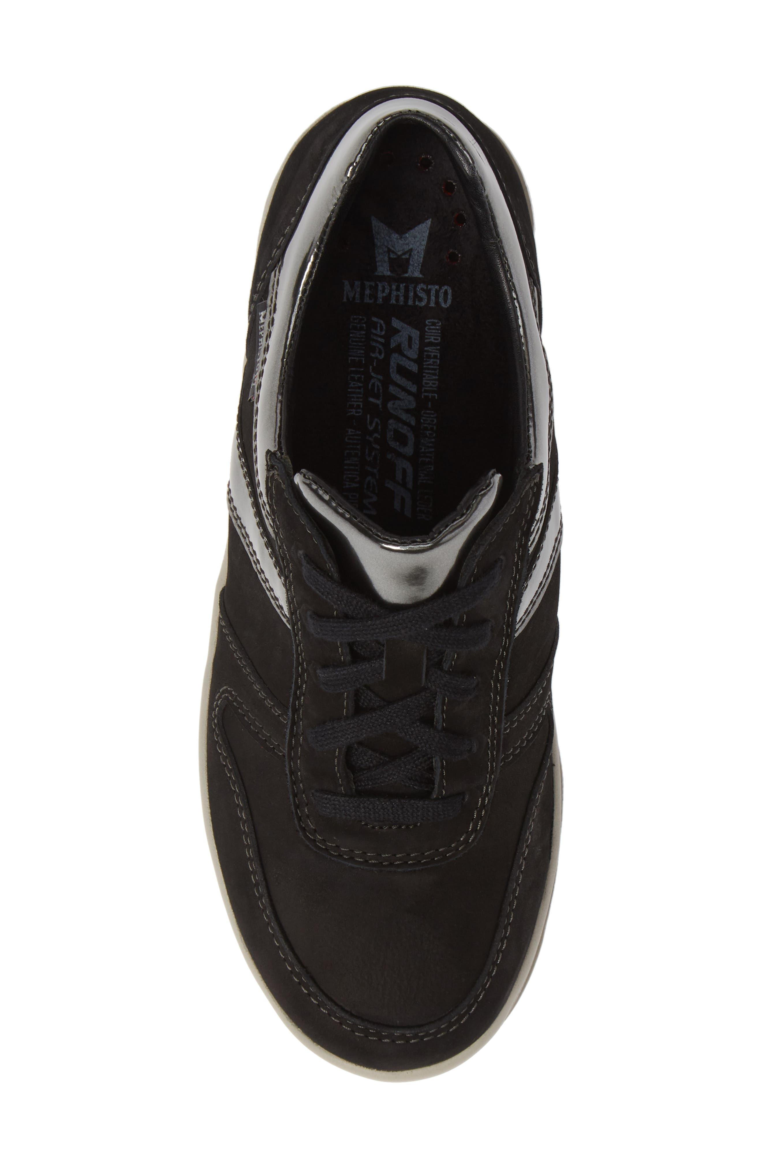 MEPHISTO,                             Rebeca Sneaker,                             Alternate thumbnail 5, color,                             BLACK FABRIC