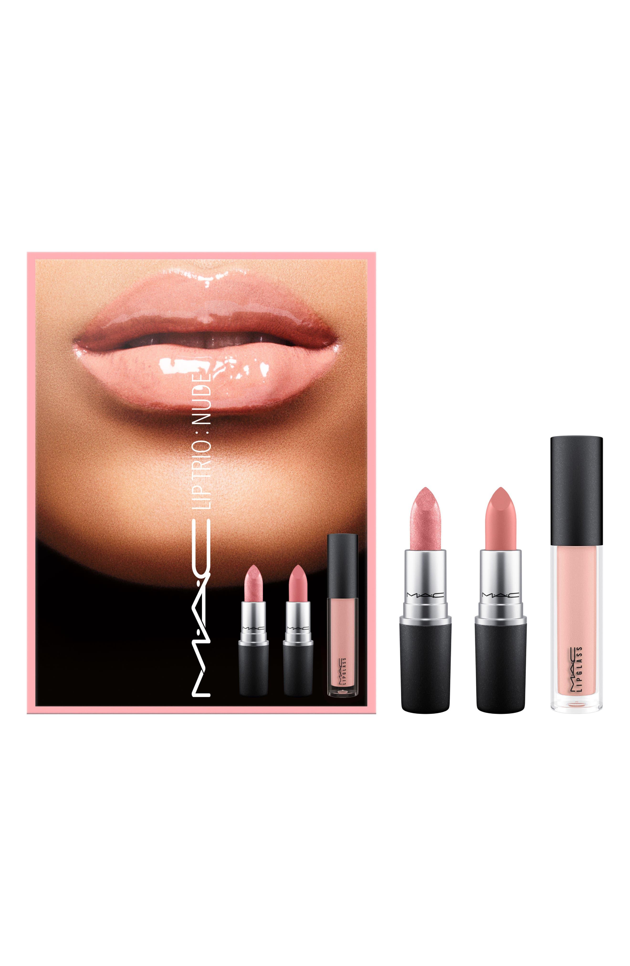 MAC Nude Lip Trio,                         Main,                         color, 000