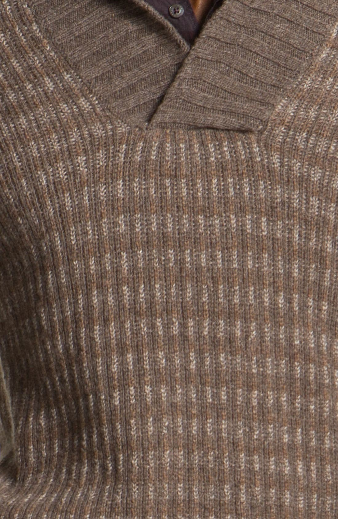 Alpaca & Merino Shawl Collar Sweater,                             Alternate thumbnail 5, color,                             200