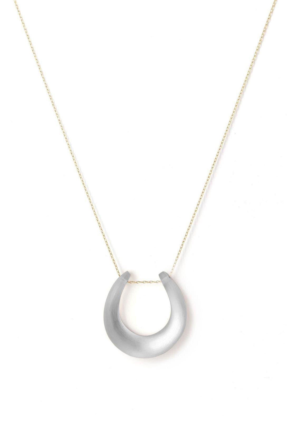 Small Horseshoe Necklace,                             Main thumbnail 12, color,