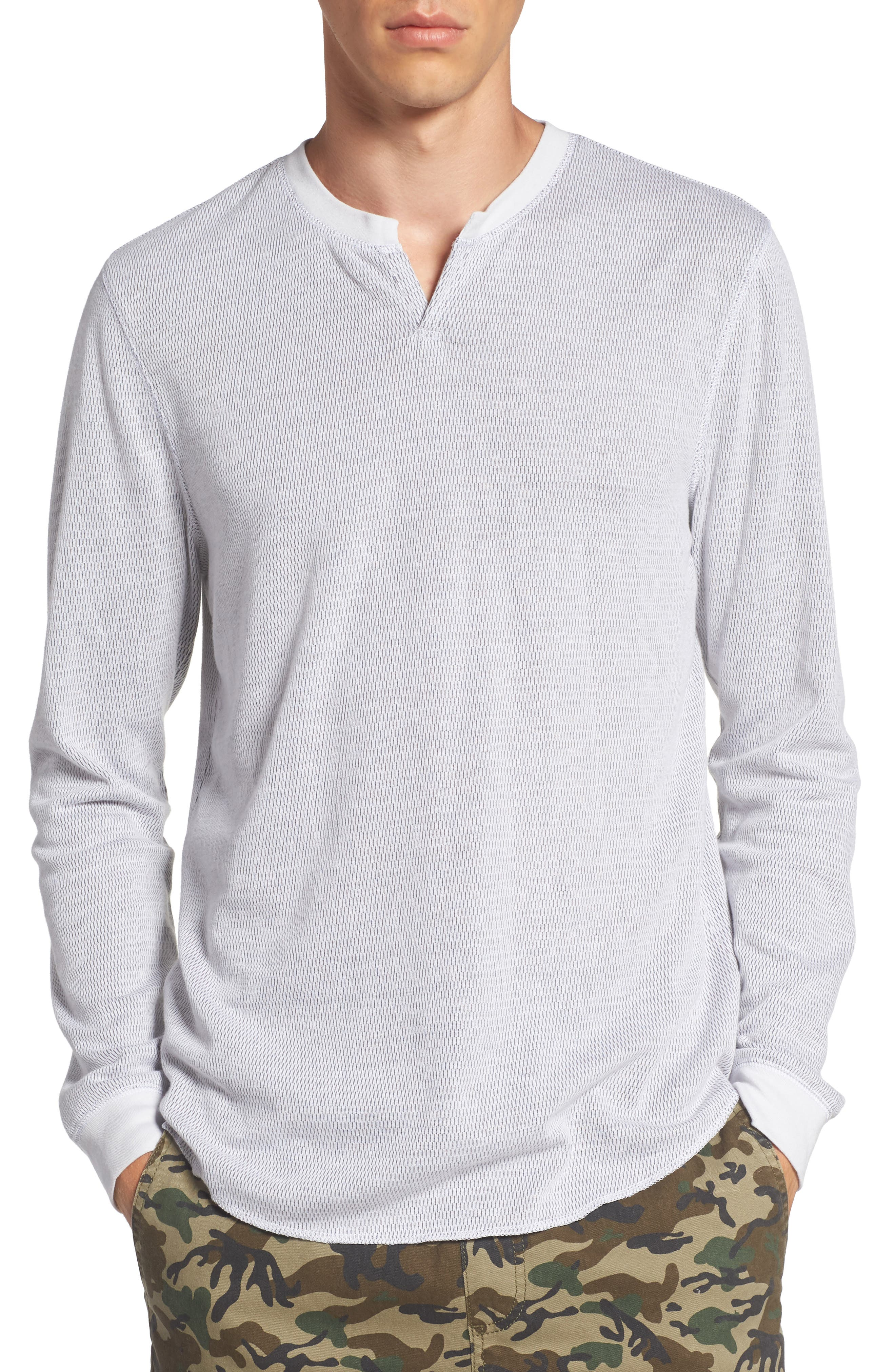Notch Neck Thermal T-Shirt,                             Main thumbnail 3, color,