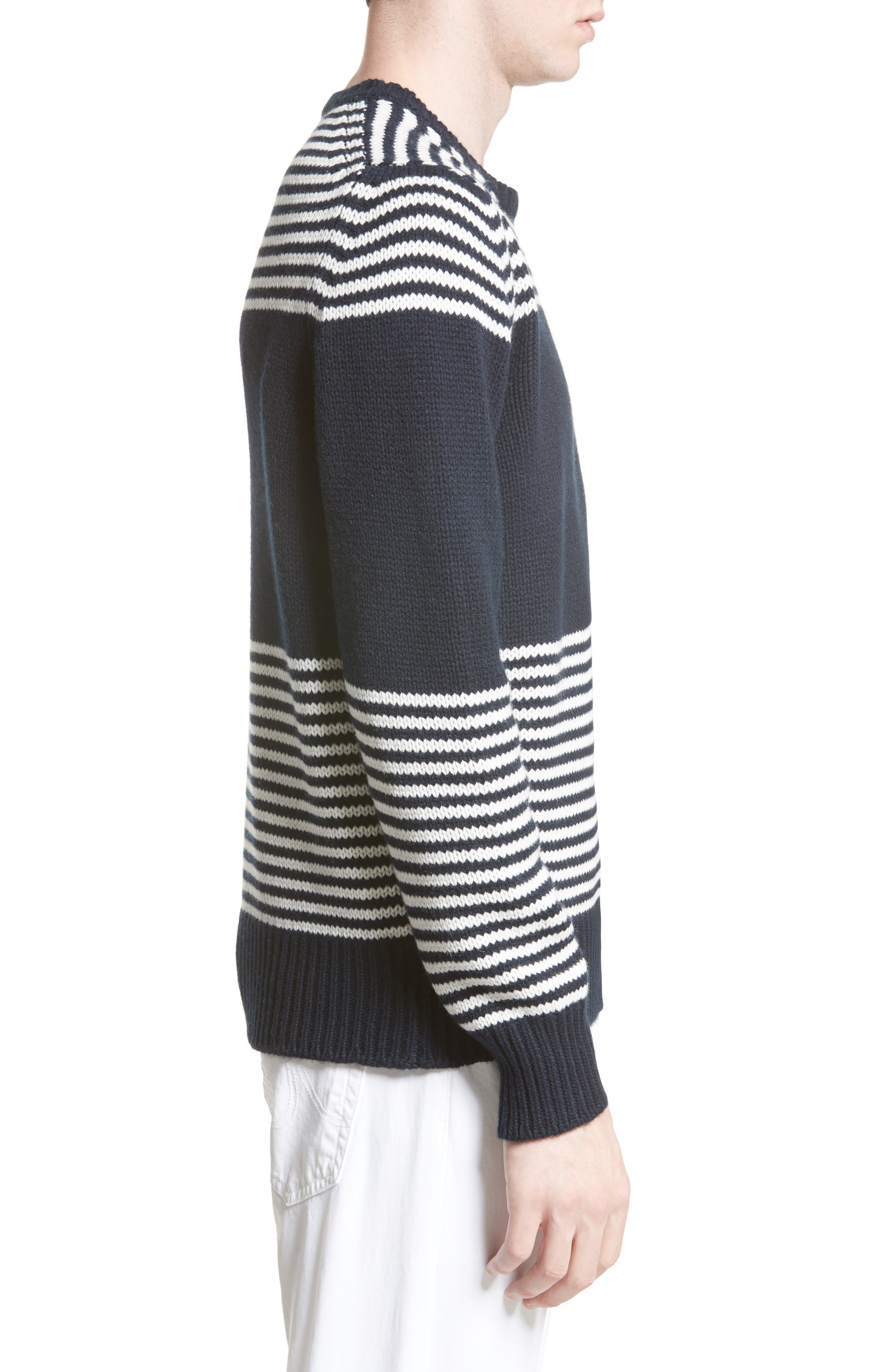 Maglione Stripe Wool & Cashmere Sweater,                             Alternate thumbnail 3, color,                             419