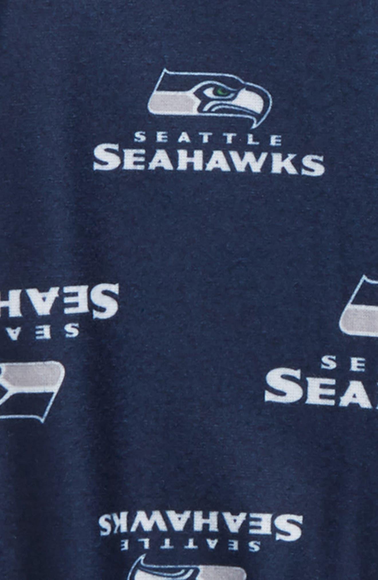 NFL Team Logo Footie,                             Alternate thumbnail 2, color,                             SEA DARK NAVY