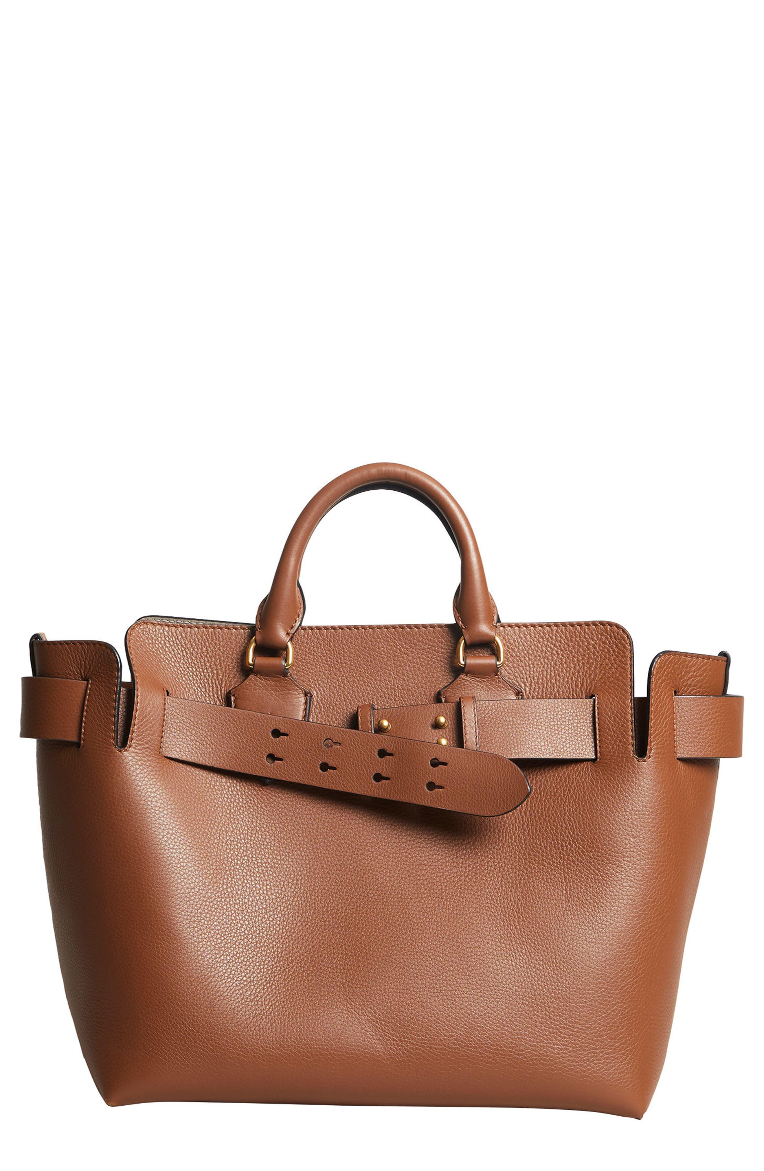 Medium Belt Bag Leather Tote,                             Main thumbnail 1, color,                             216