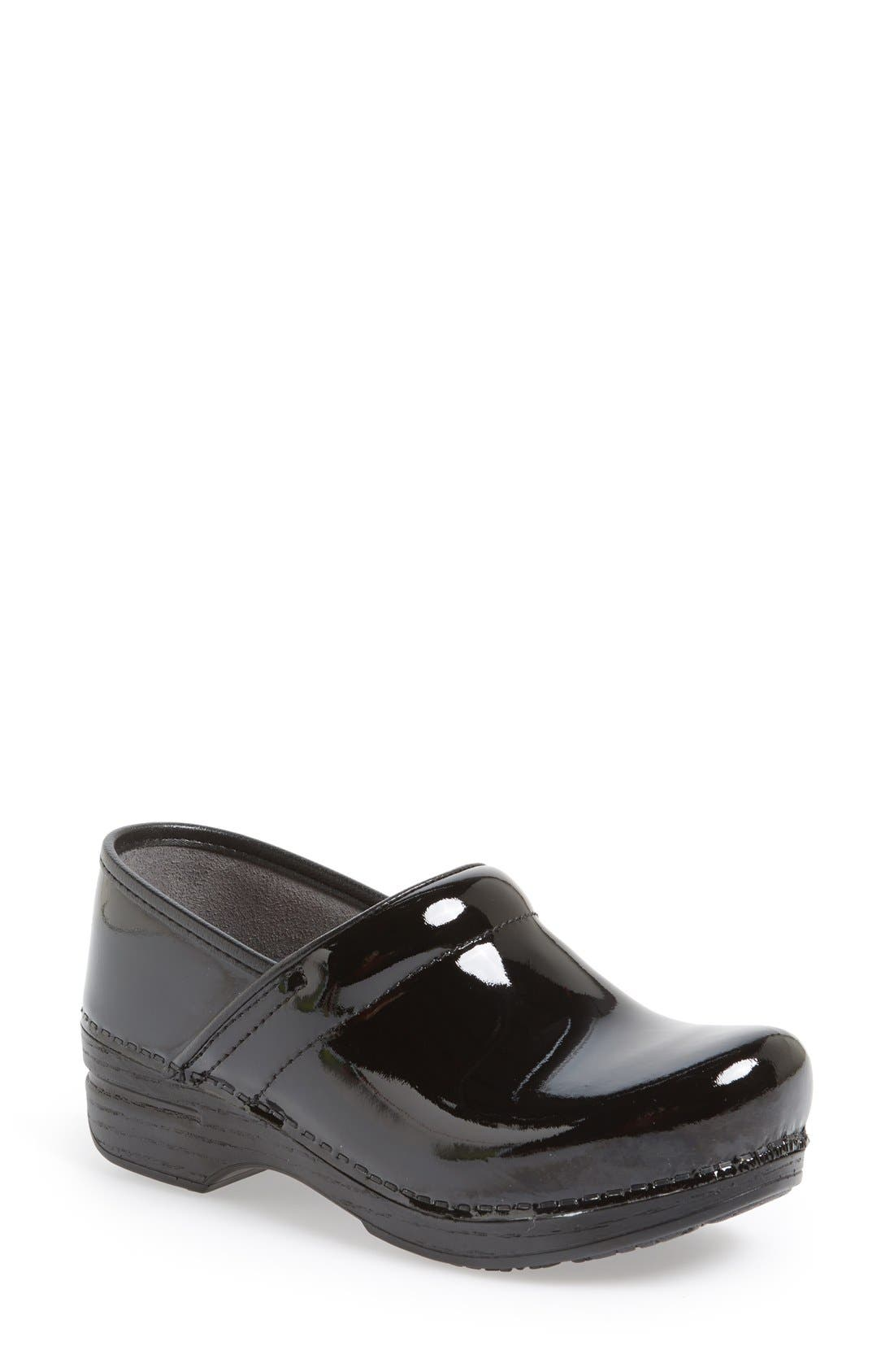 DANSKO 'Professional XP' Clog, Main, color, BLACK PATENT/ BLACK