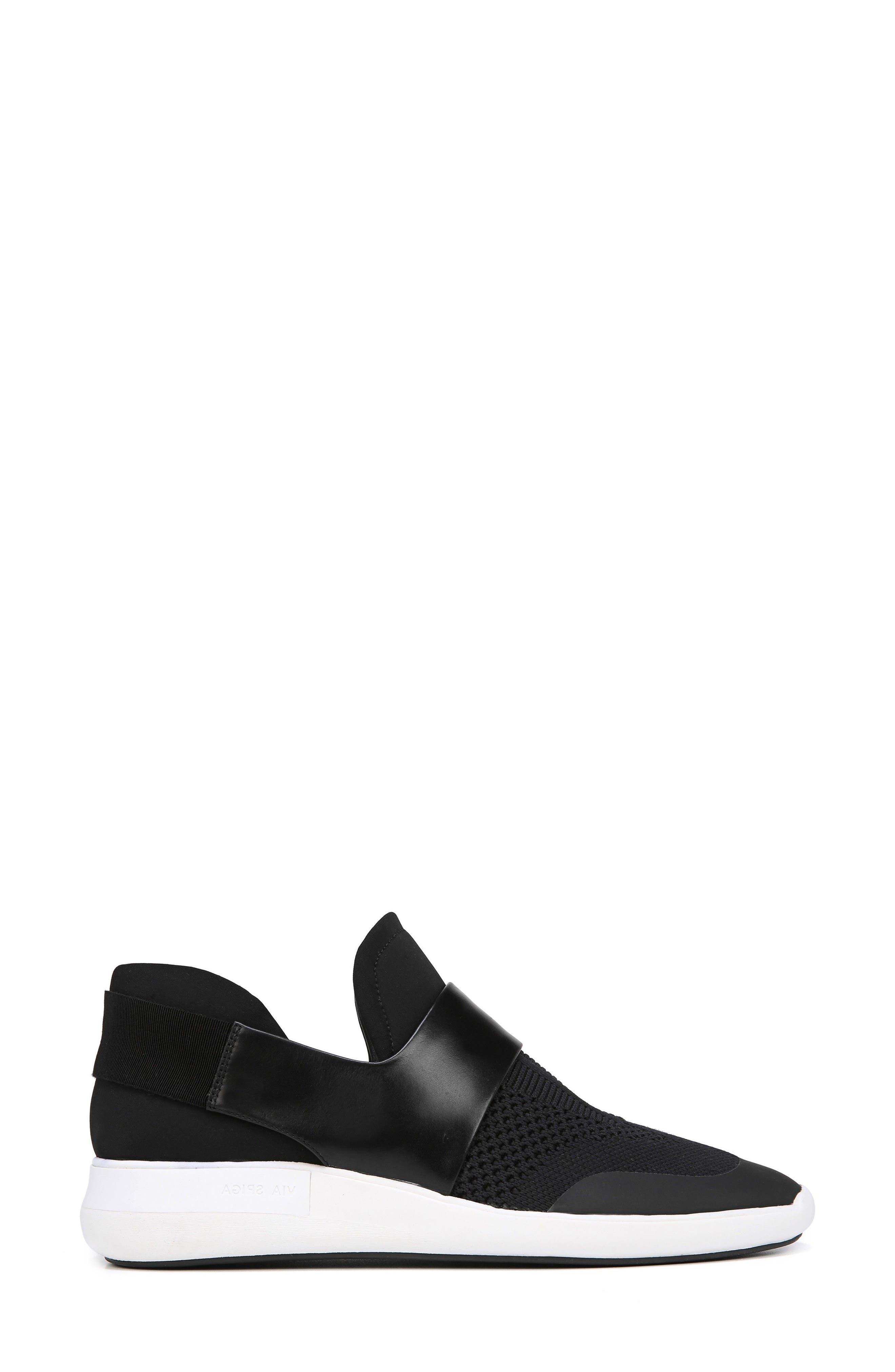 Misha Slip-On Sneaker,                             Alternate thumbnail 3, color,                             001
