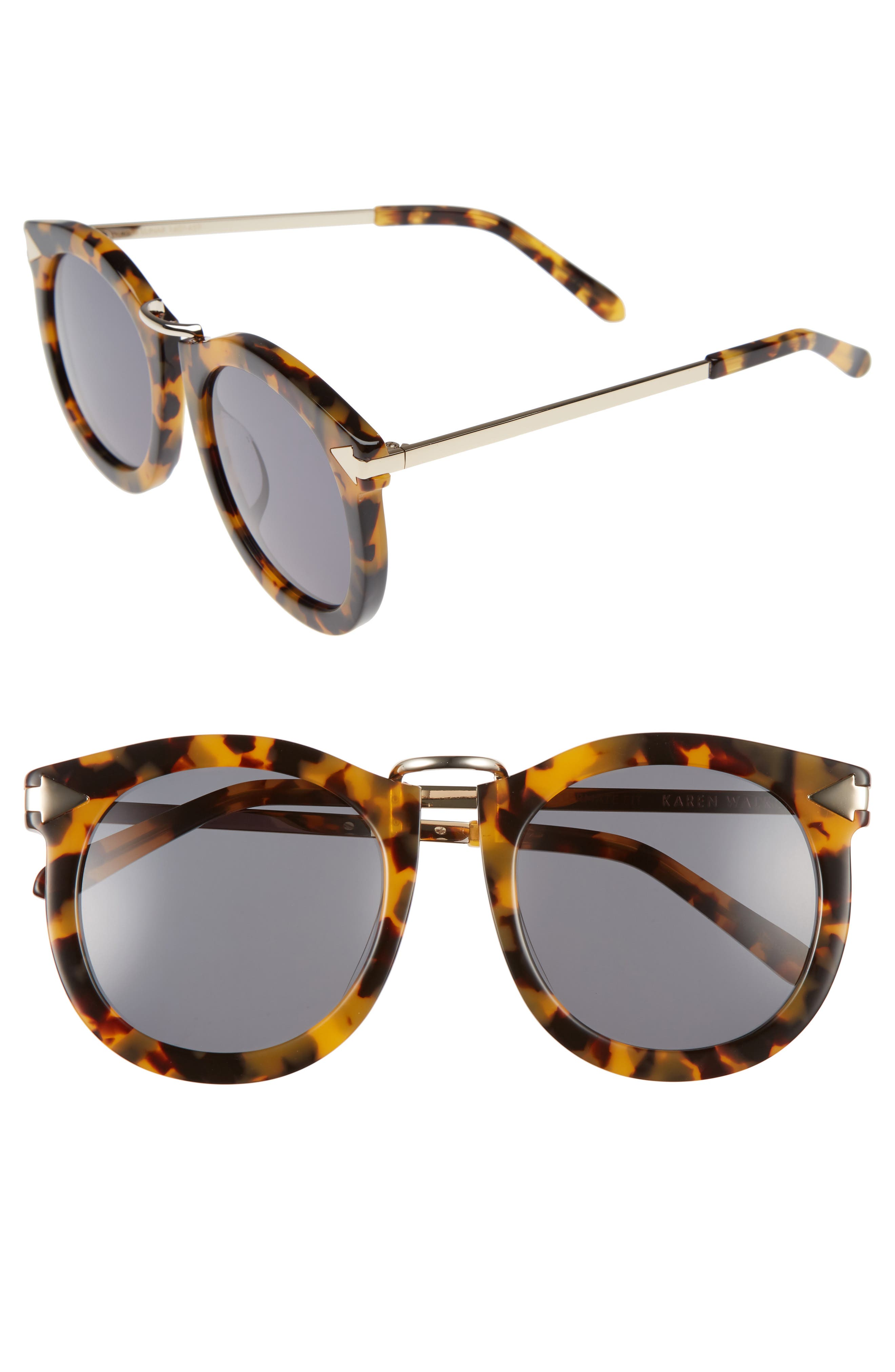 Alternative Fit Super Lunar - Arrowed by Karen 50mm Sunglasses,                             Alternate thumbnail 4, color,