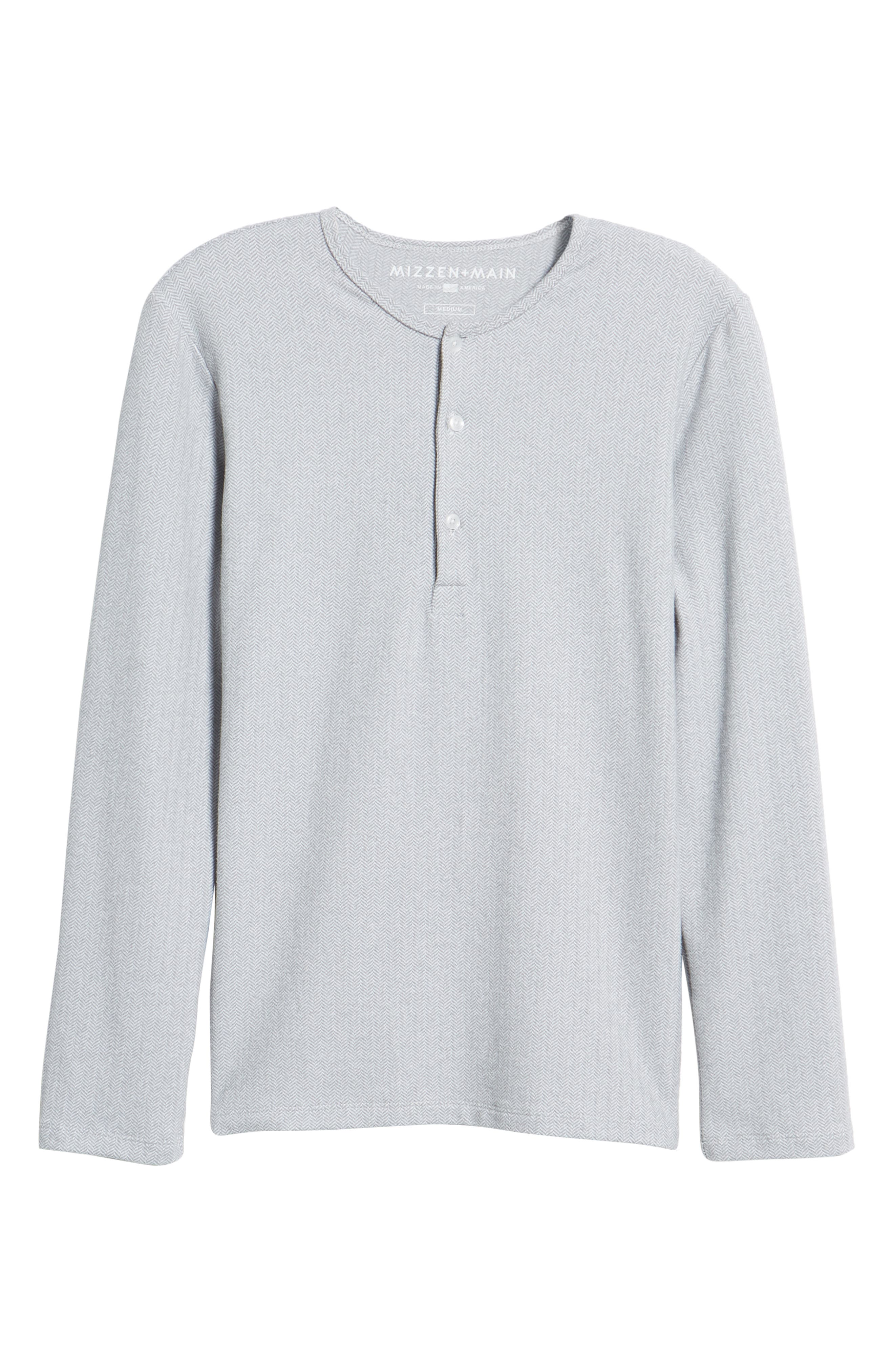 MIZZEN+MAIN,                             Anchorage Regular Fit Henley T-Shirt,                             Alternate thumbnail 6, color,                             031