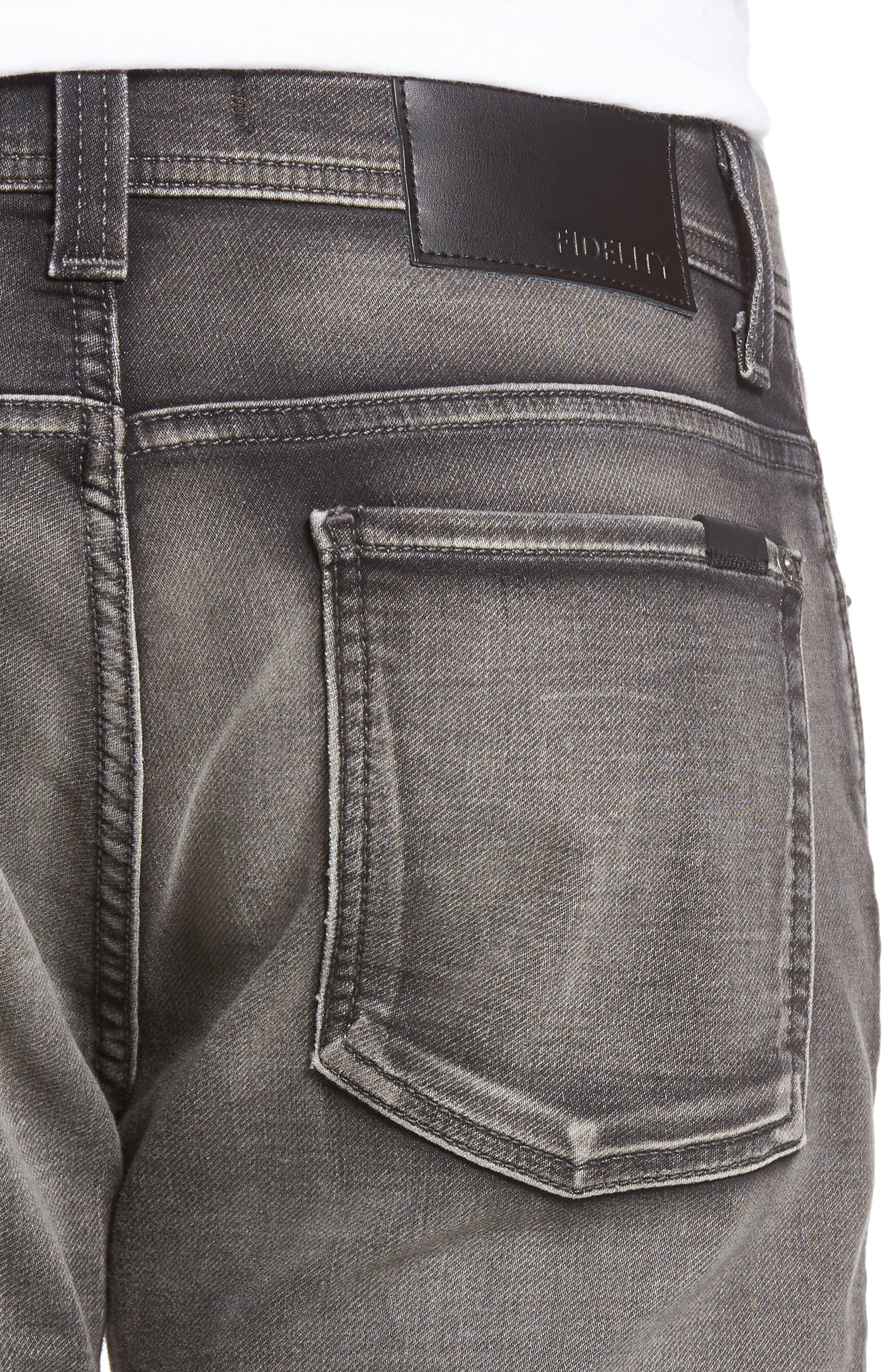 Fidelity Jimmy Slim Fit Jeans,                             Alternate thumbnail 4, color,                             001