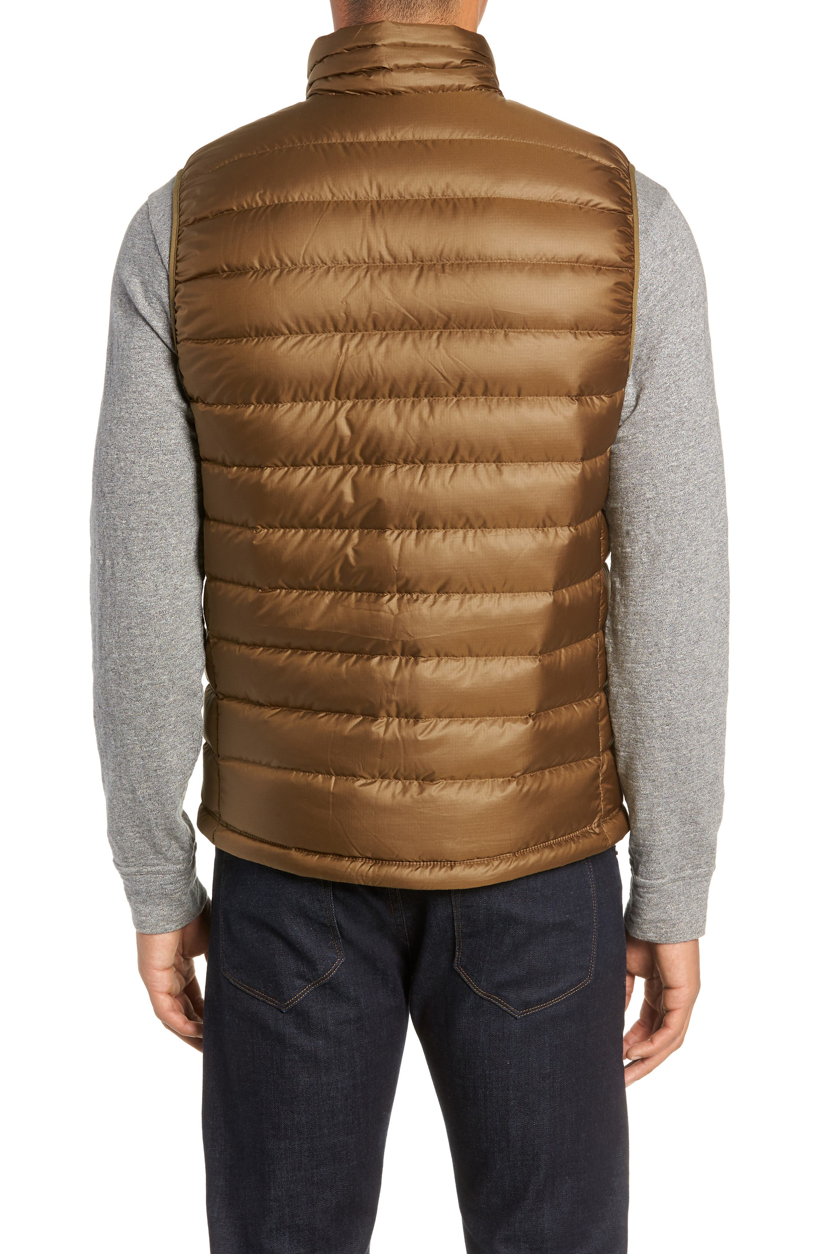 Windproof & Water Resistant 800 Fill Power Down Quilted Vest,                             Alternate thumbnail 11, color,