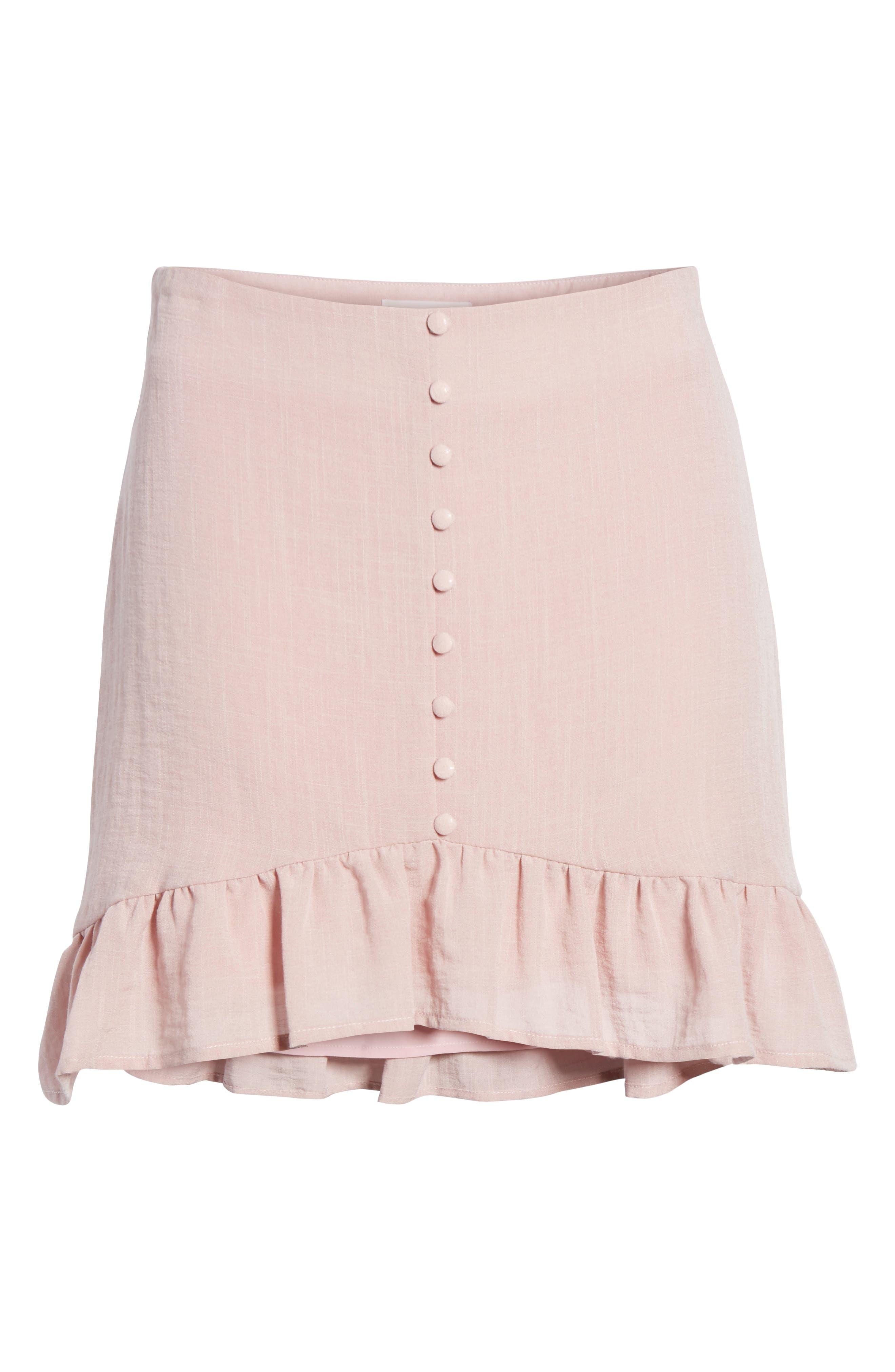 Peony Ruffle Hem Skirt,                             Alternate thumbnail 6, color,                             681