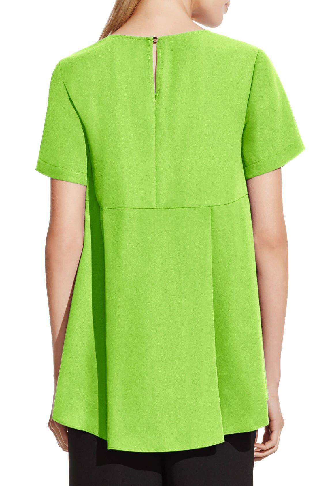 VINCE CAMUTO,                             Short Sleeve High/Low Hem Blouse,                             Alternate thumbnail 2, color,                             304