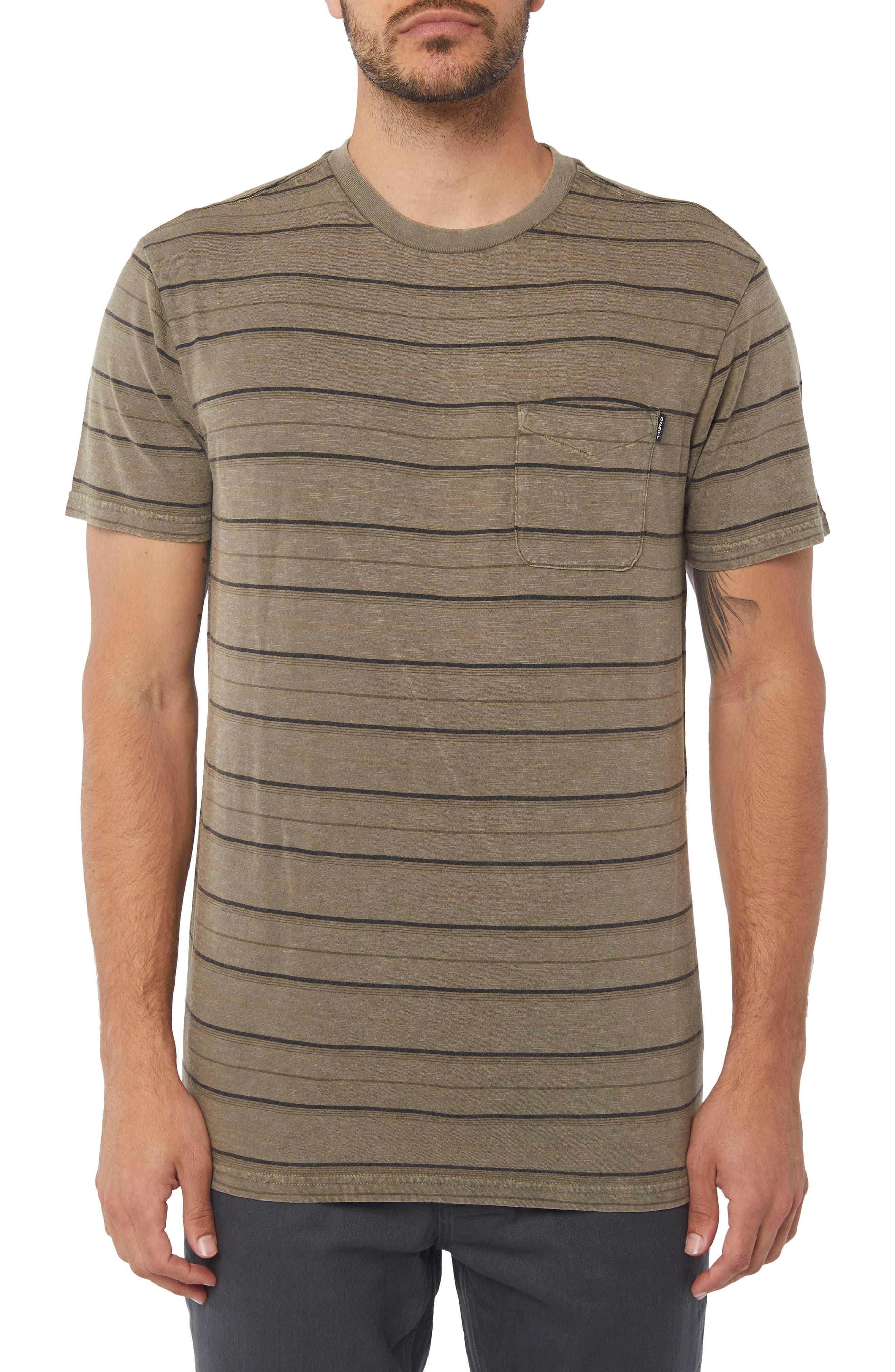 O'Neil Detroit Dinsmore Crew T-shirt,                         Main,                         color, MILITARY