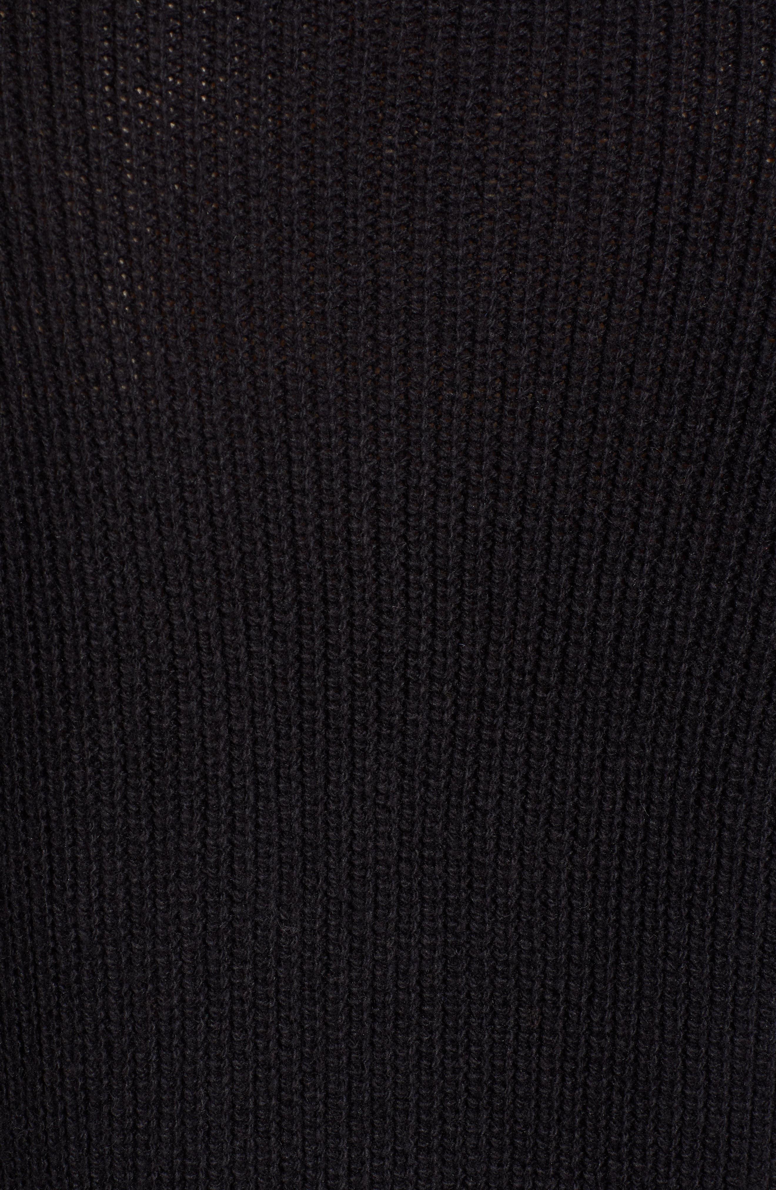 BP.,                             Cowl Neck Sweater Dress,                             Alternate thumbnail 6, color,                             001
