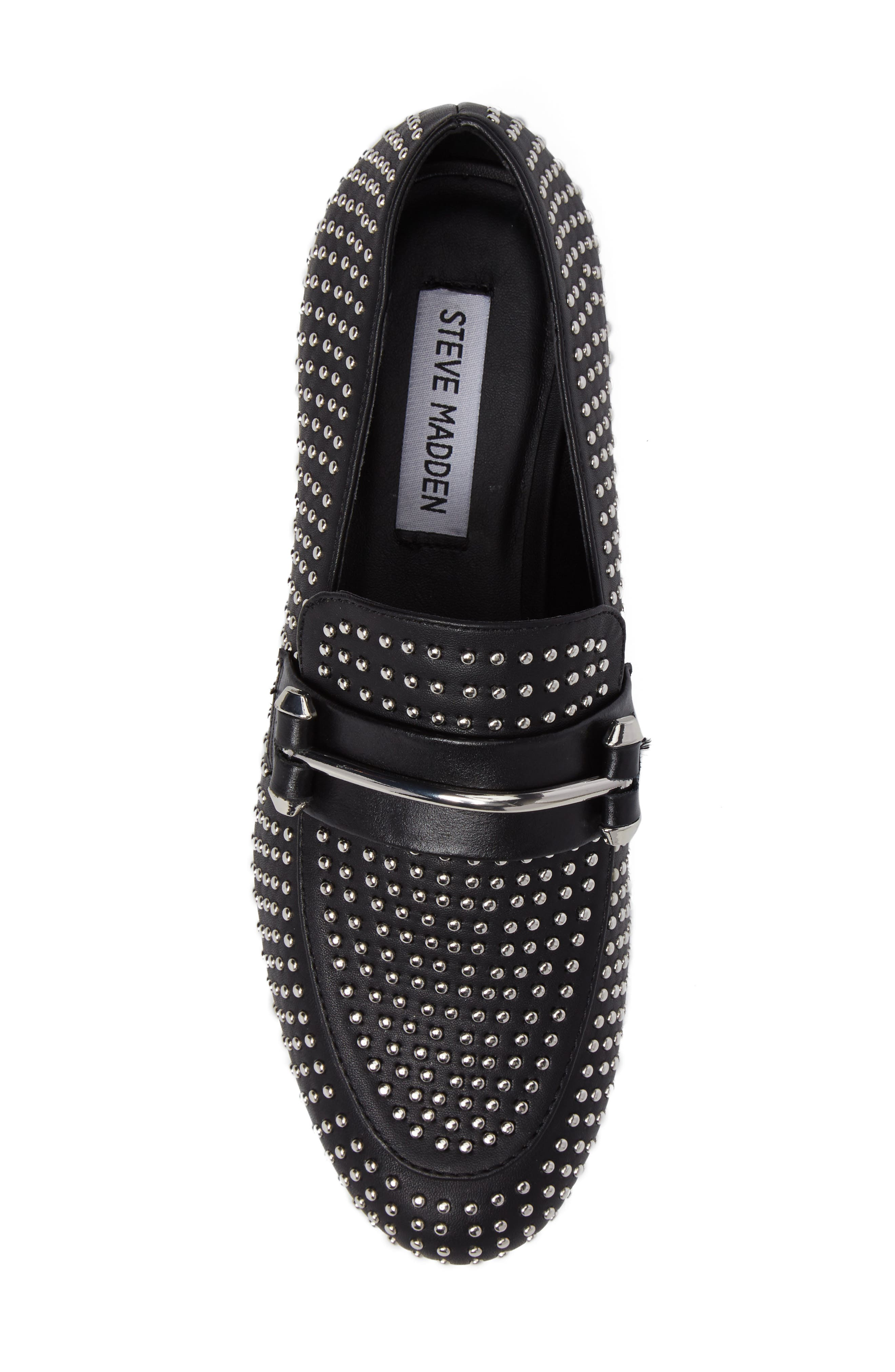 Kast Studded Loafer,                             Alternate thumbnail 5, color,                             001