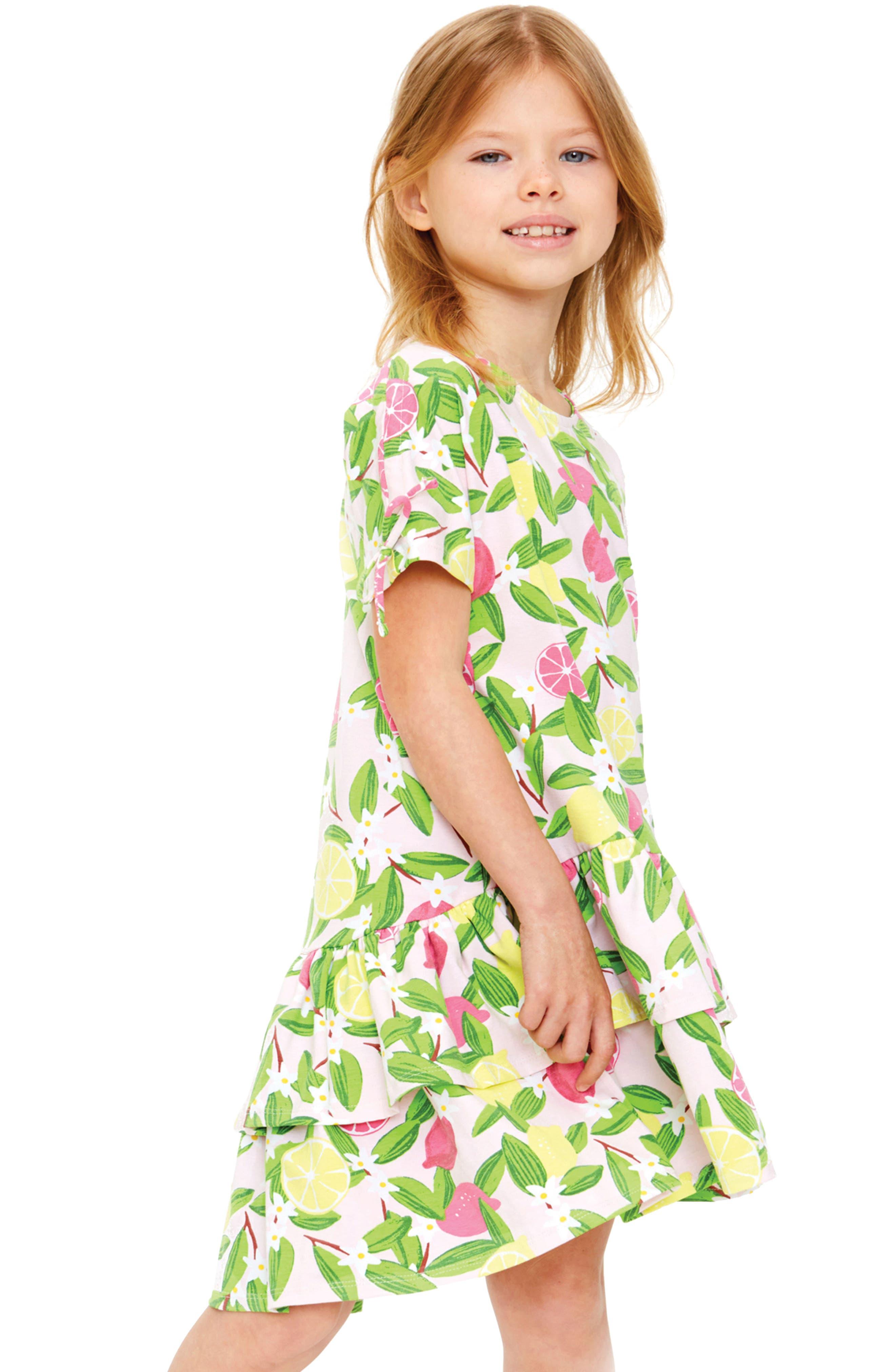 Meadow Ruffle Hem Dress,                             Alternate thumbnail 2, color,                             682