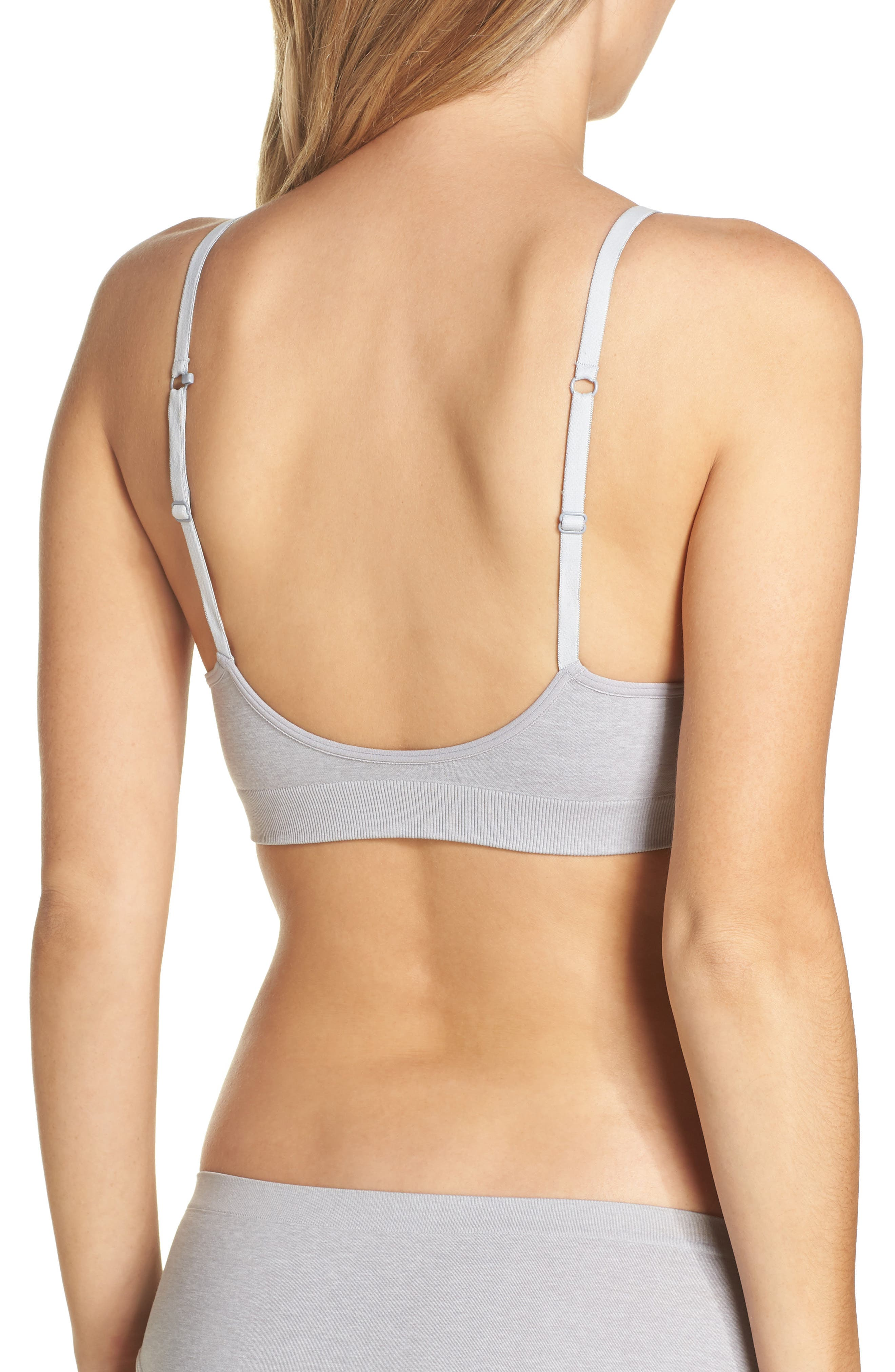 Seamless Day Bra,                             Alternate thumbnail 2, color,                             GREY ALLOY