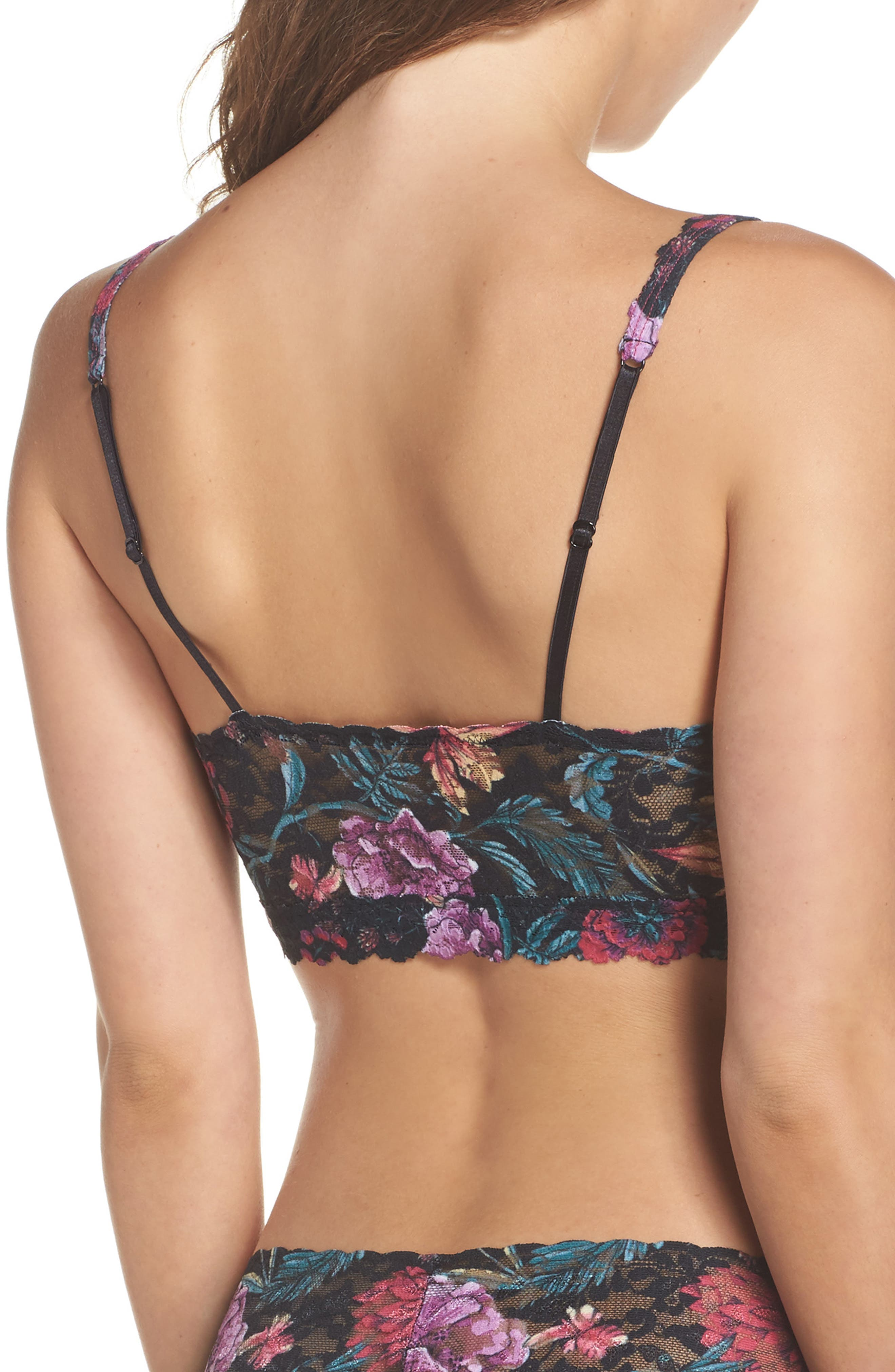 Moody Blooms Retro Bralette,                             Alternate thumbnail 2, color,                             001
