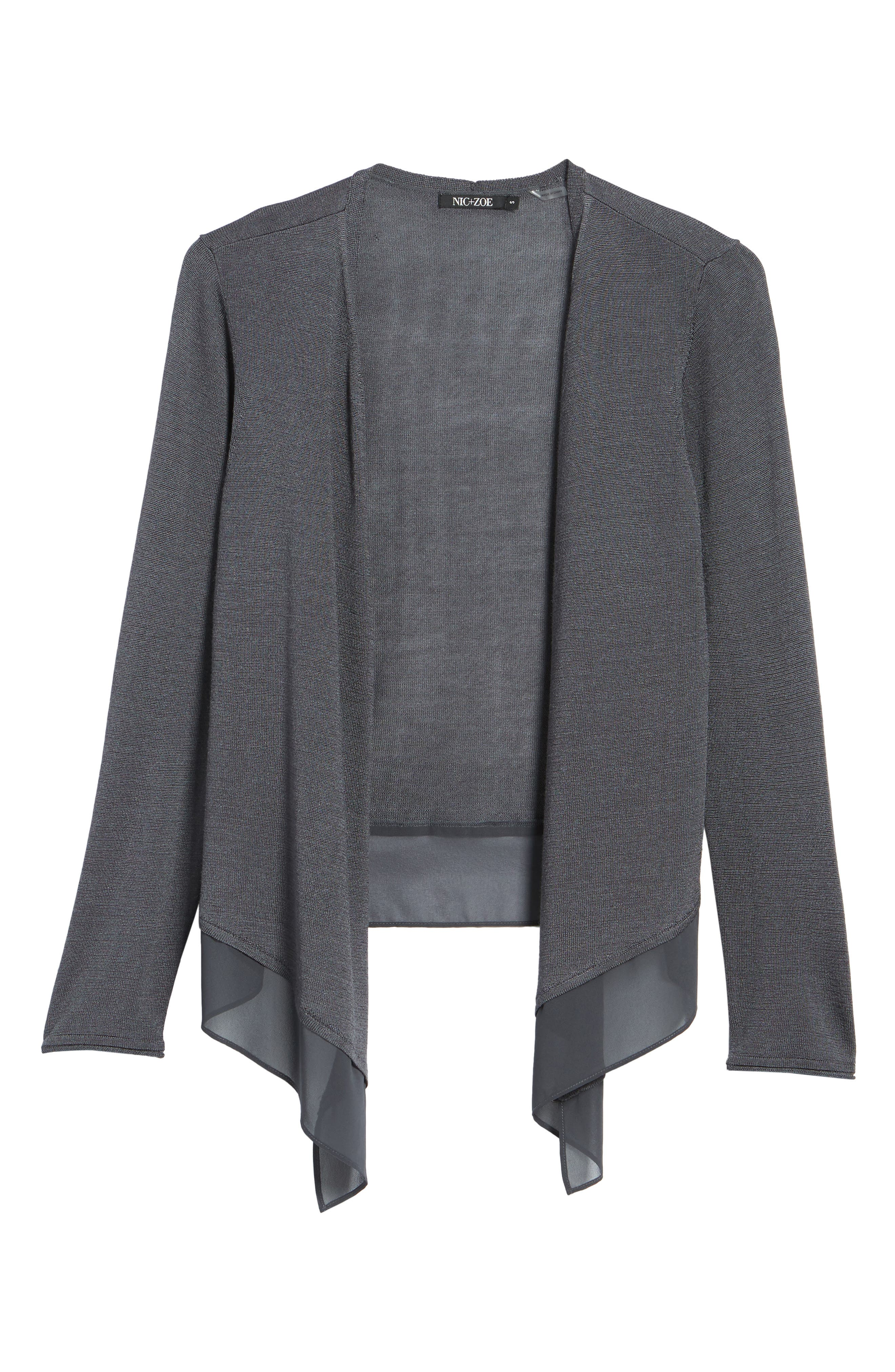 Paired Up Silk Blend Cardigan,                             Alternate thumbnail 18, color,
