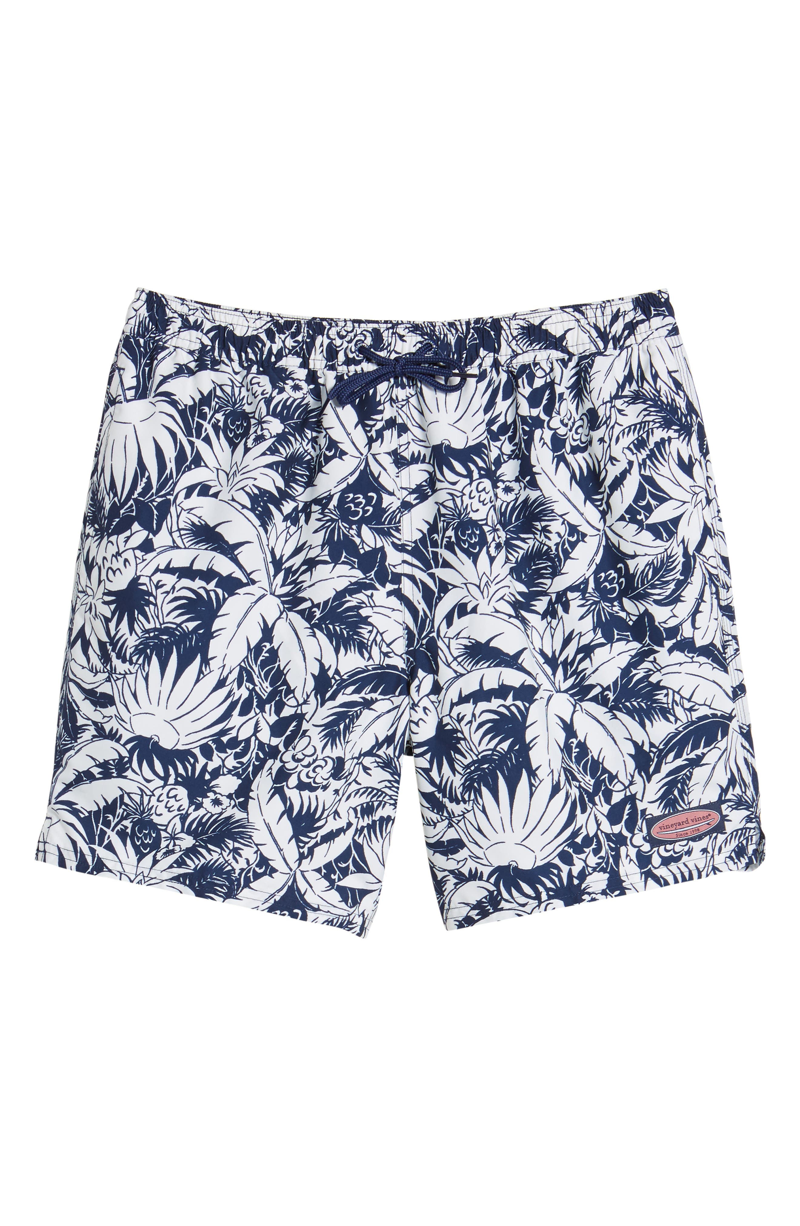 Chappy Pineapple in Palms Swim Trunks,                             Alternate thumbnail 6, color,                             400