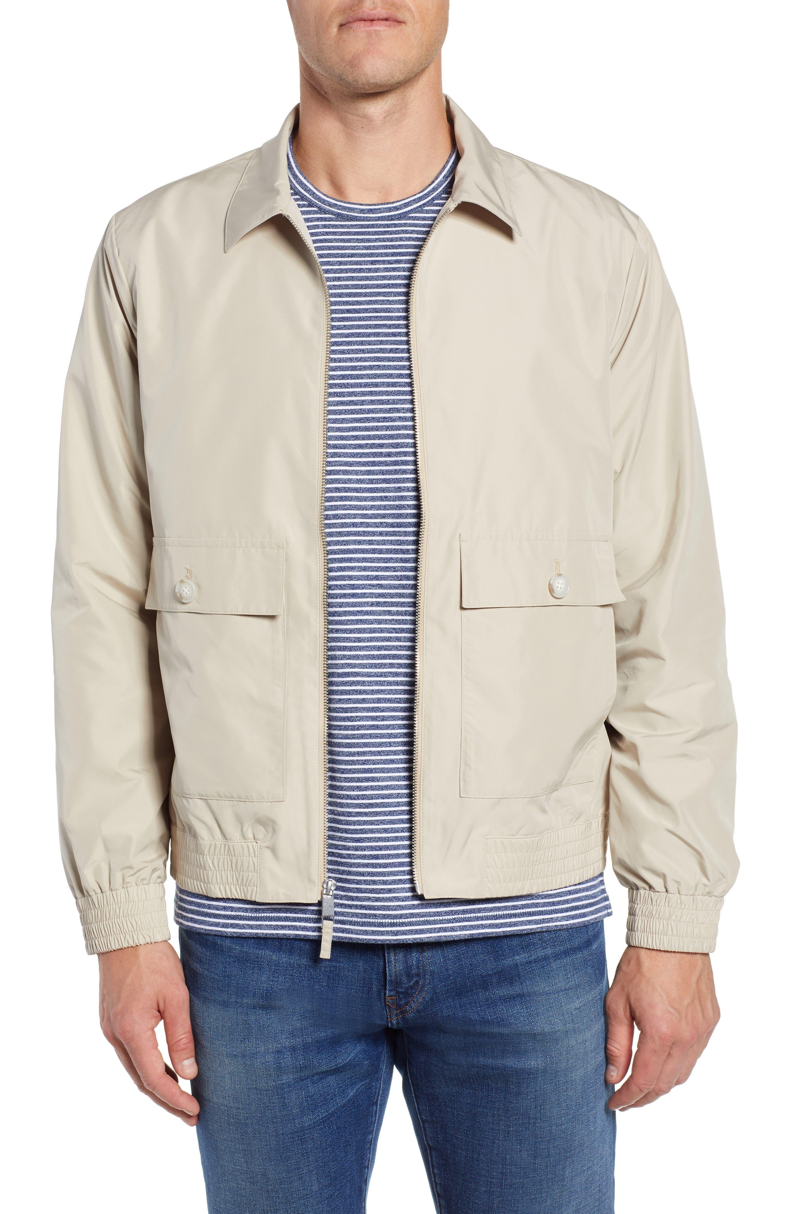 Slim Fit Lightweight Jacket,                         Main,                         color, KHAKI