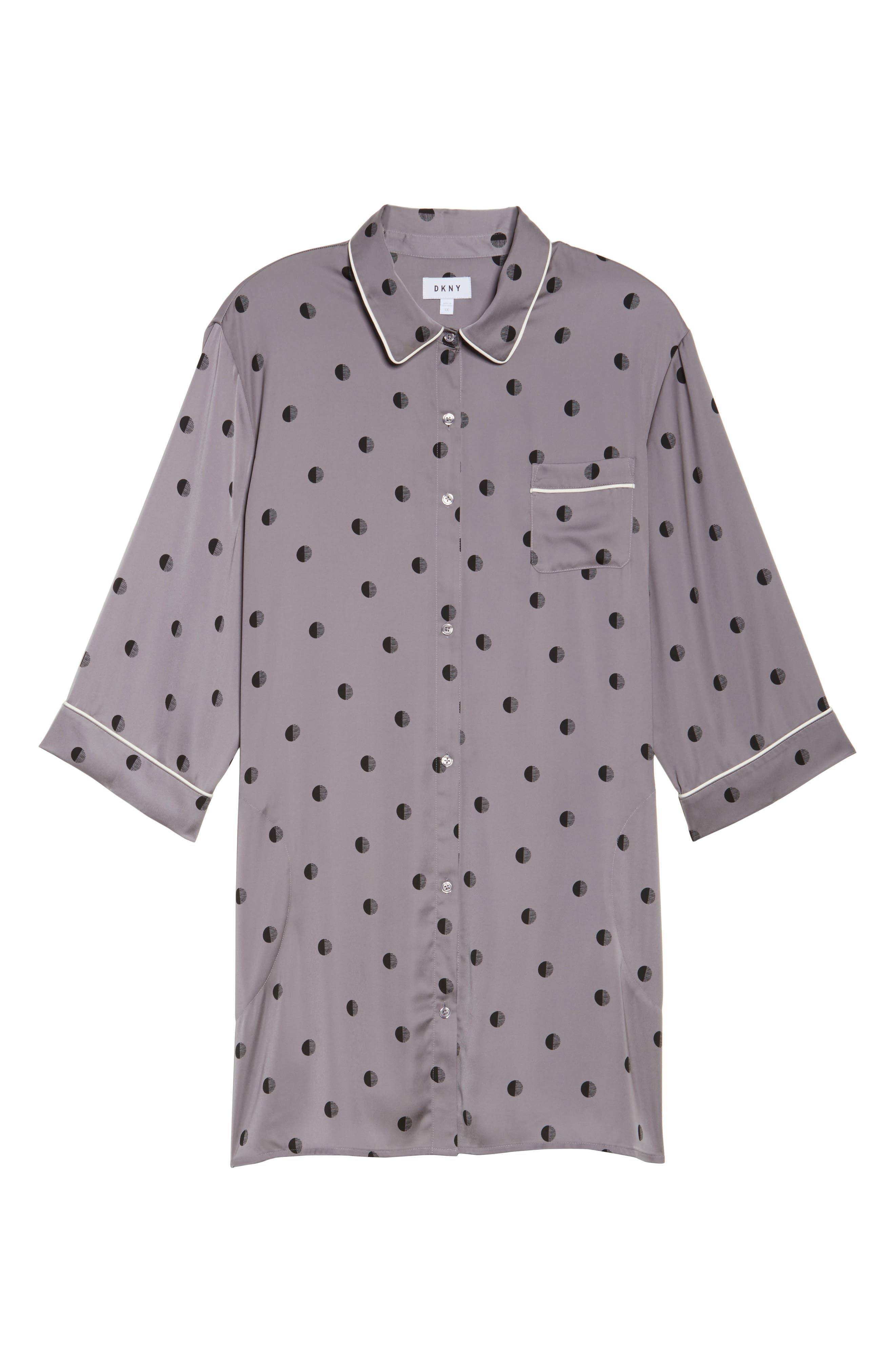 Washed Satin Sleep Shirt,                             Alternate thumbnail 6, color,                             067