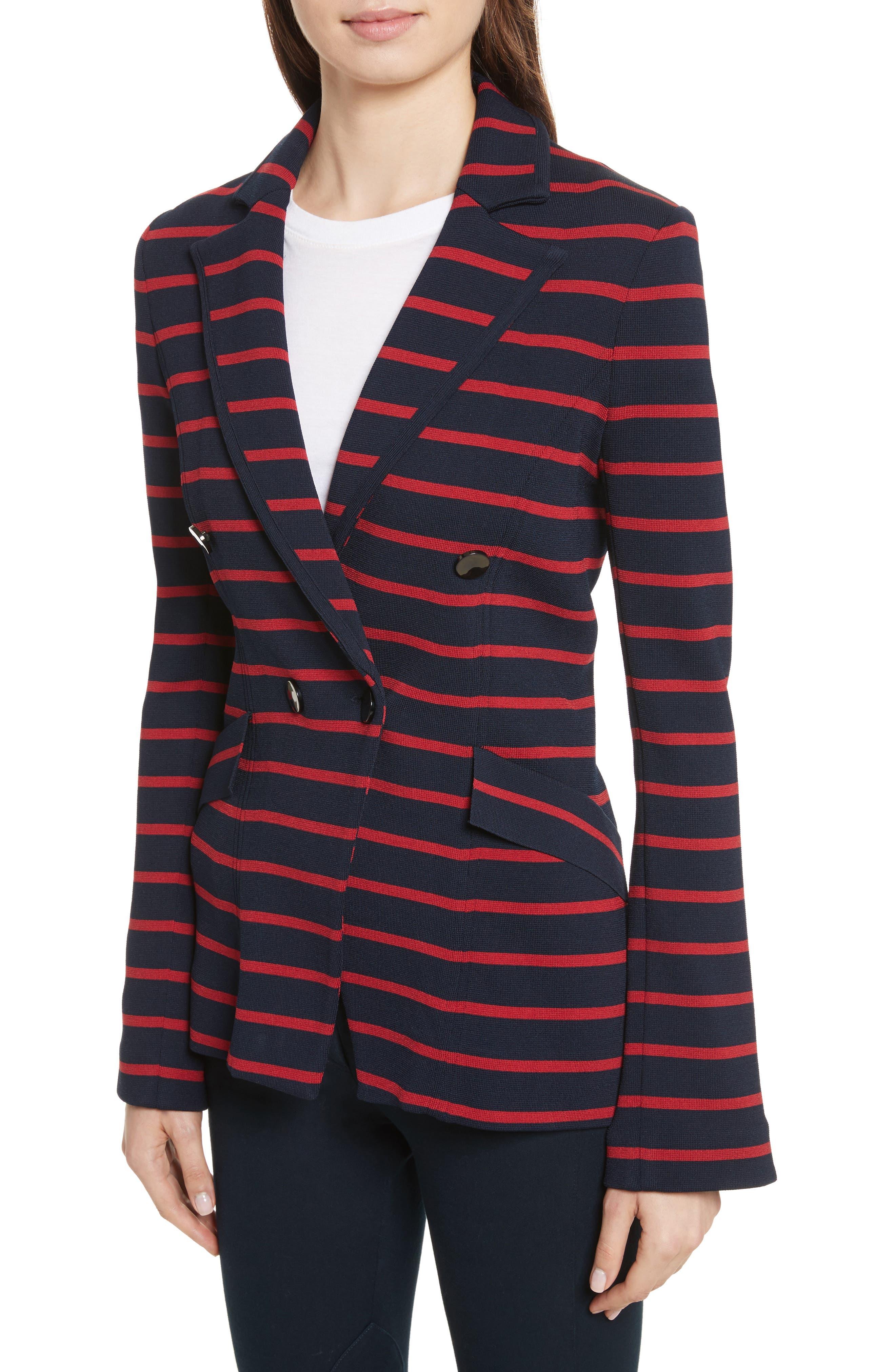 Fontana Stripe Jacket,                             Alternate thumbnail 4, color,                             414