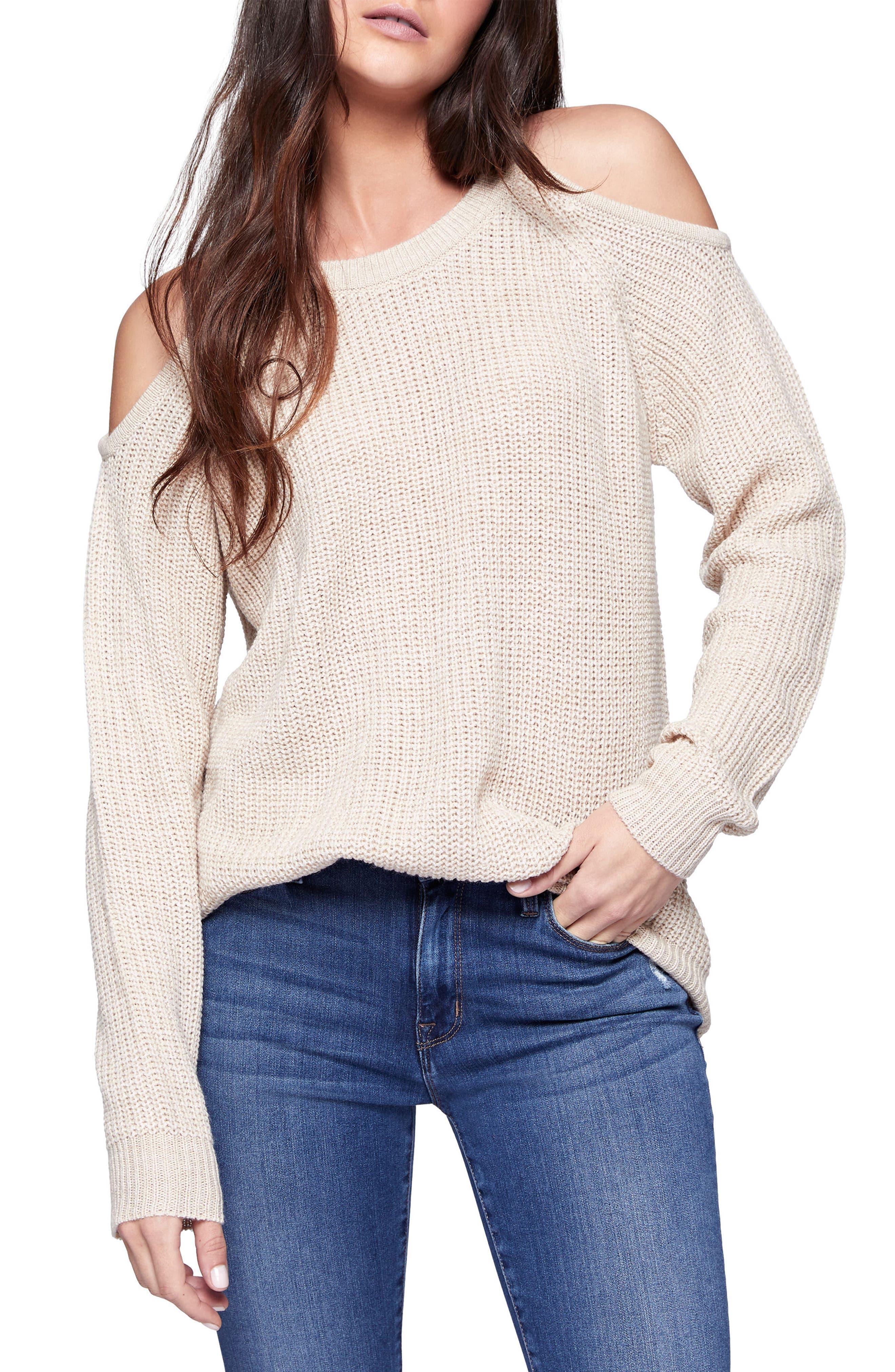 Riley Cold Shoulder Sweater,                             Main thumbnail 6, color,