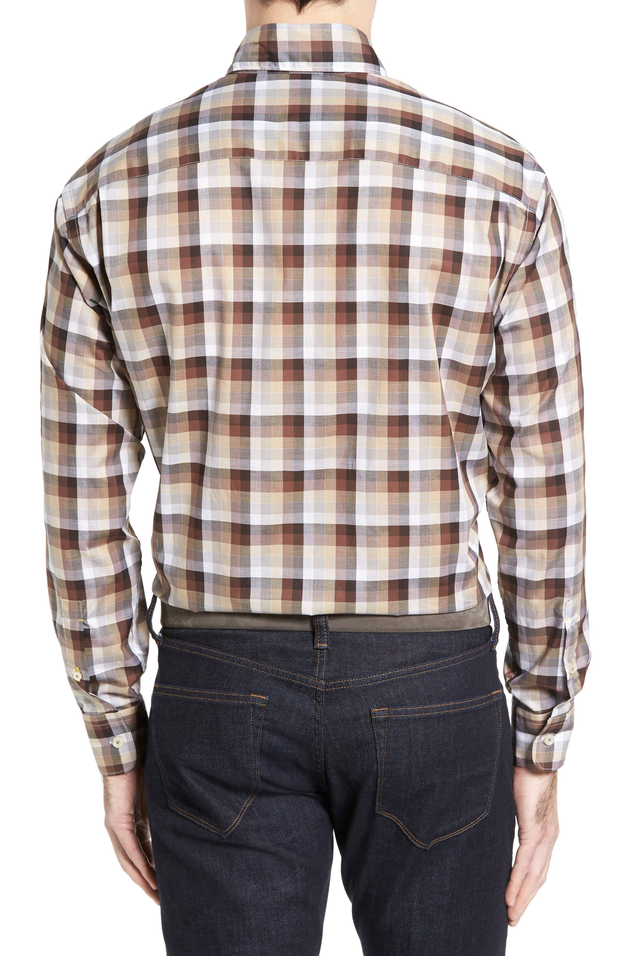 Anderson Classic Fit Check Sport Shirt,                             Alternate thumbnail 2, color,                             200