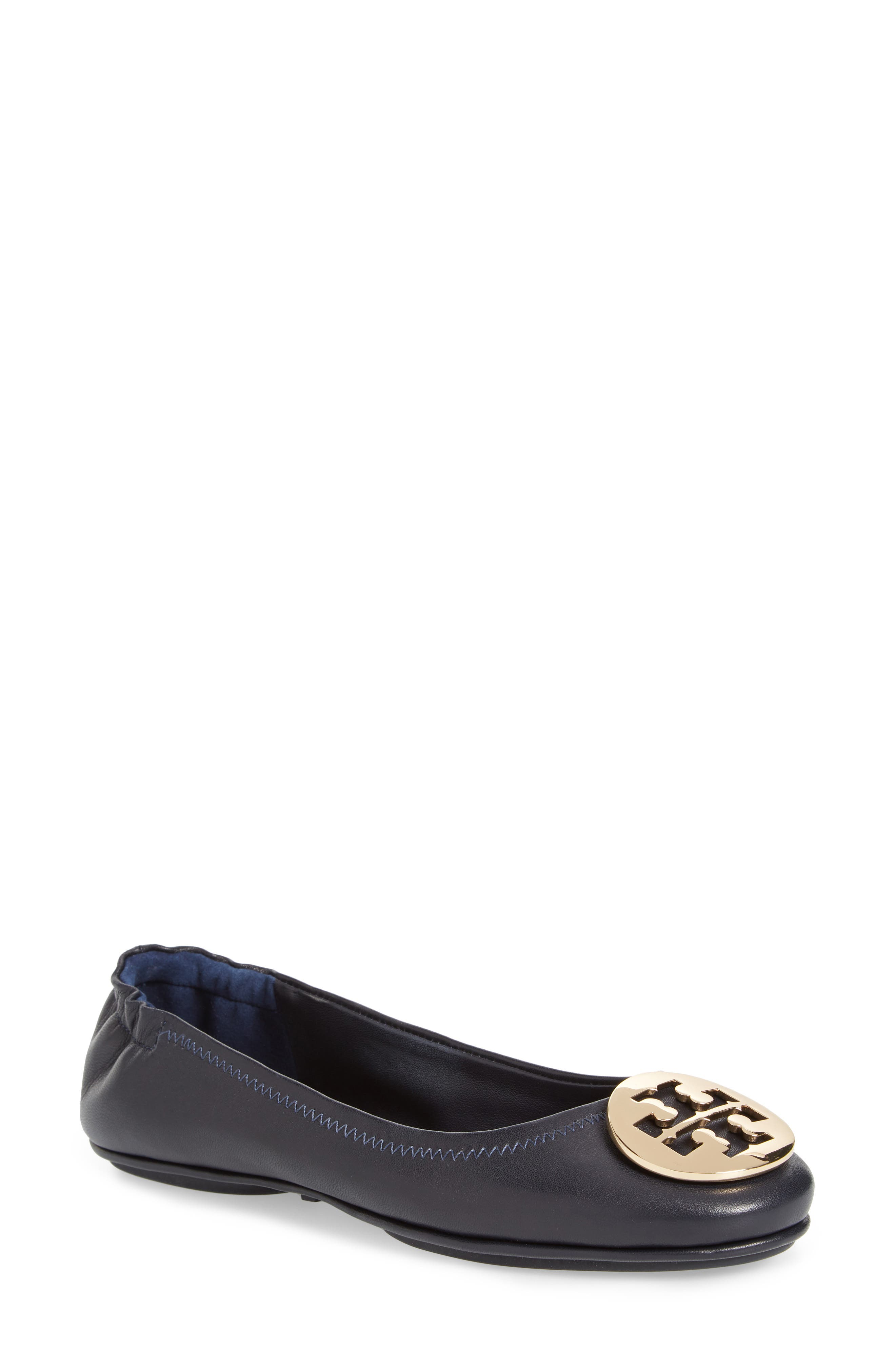 'Minnie' Travel Ballet Flat,                             Main thumbnail 1, color,                             PERFECT NAVY
