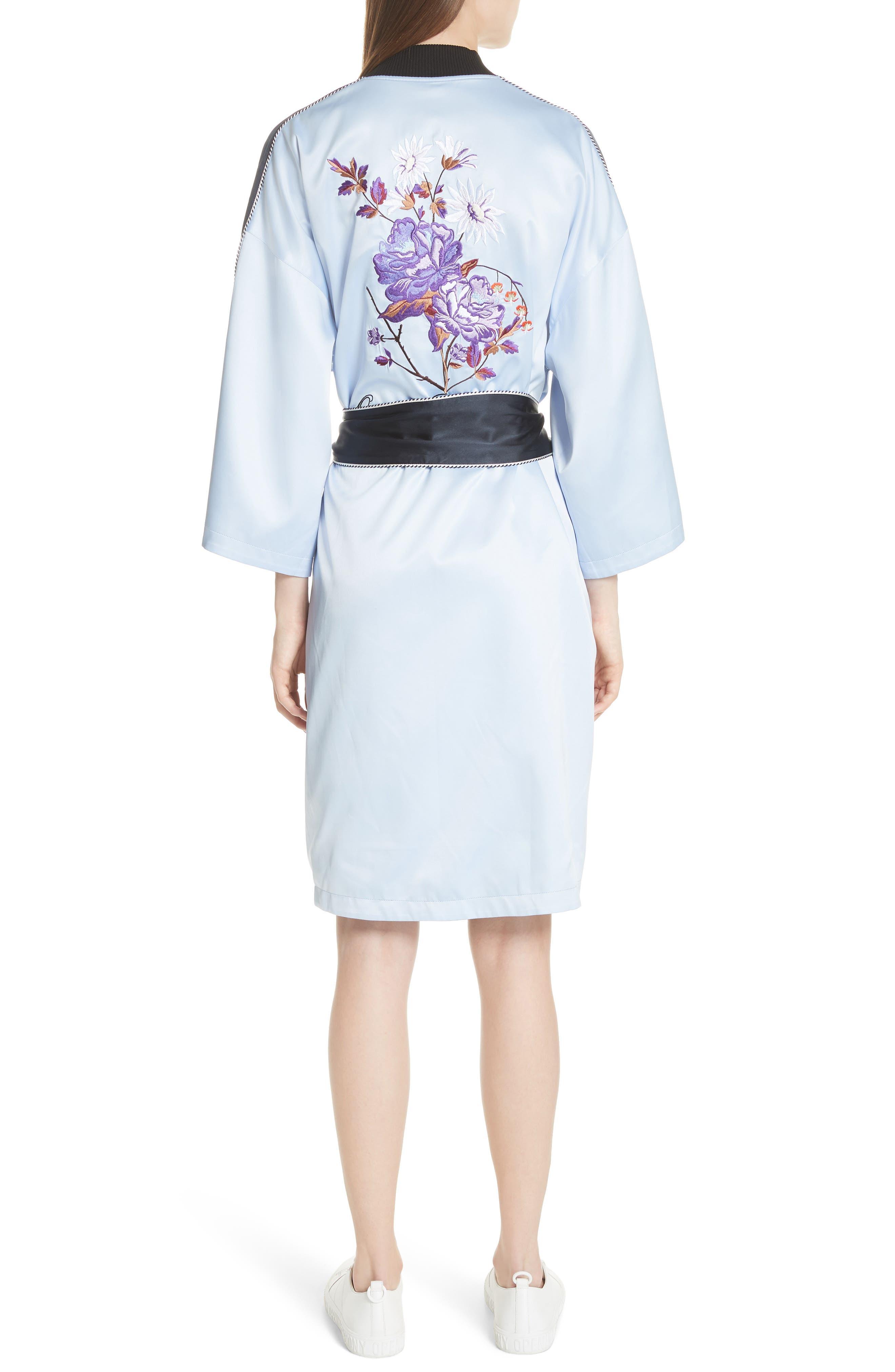 OPENING CEREMONY,                             Reversible Silk Kimono Robe,                             Alternate thumbnail 2, color,                             435