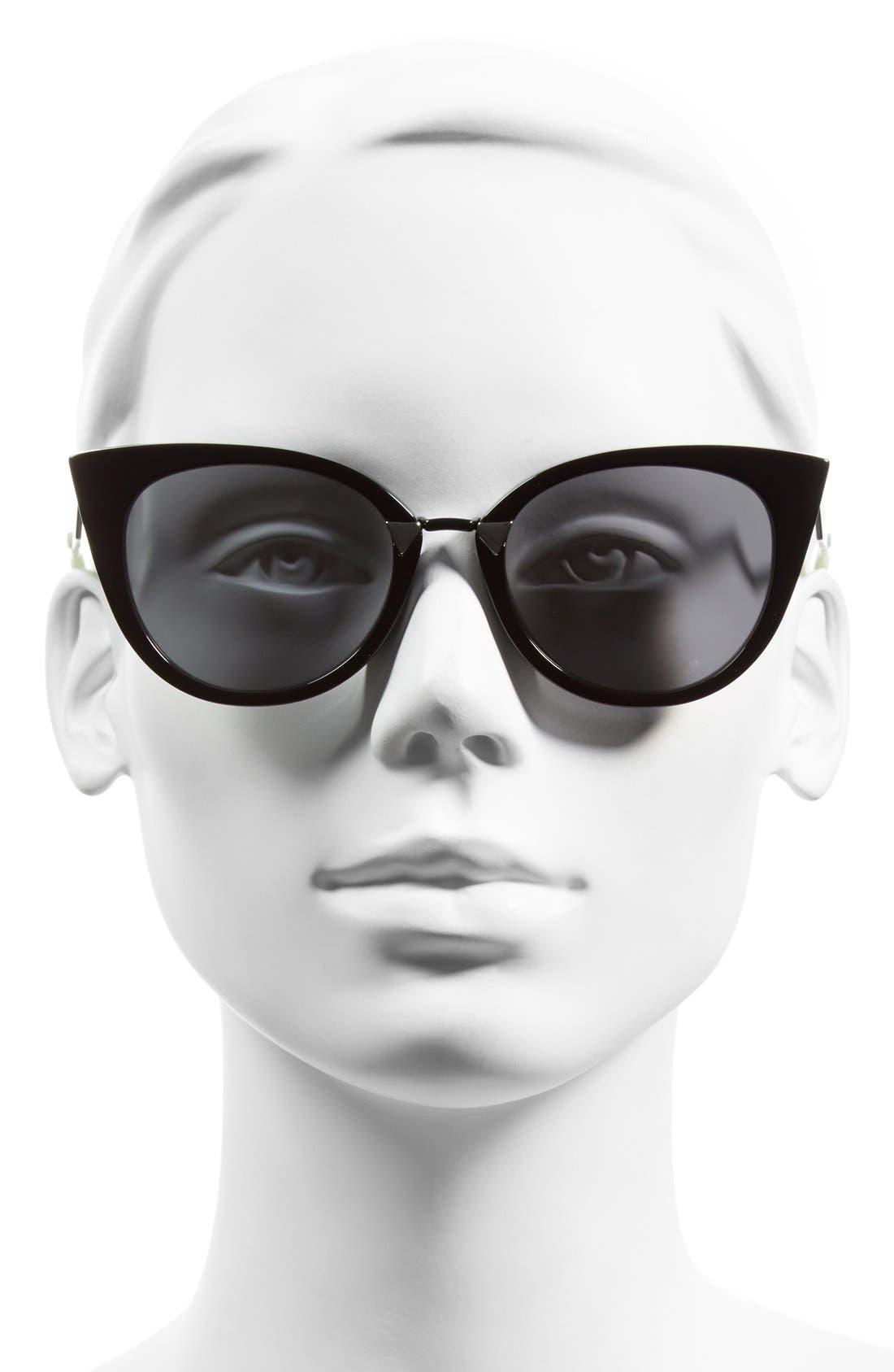 52mm Cat Eye Sunglasses,                             Alternate thumbnail 6, color,
