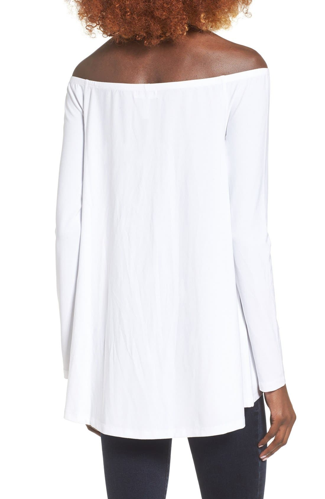 Off the Shoulder Tee,                             Alternate thumbnail 6, color,