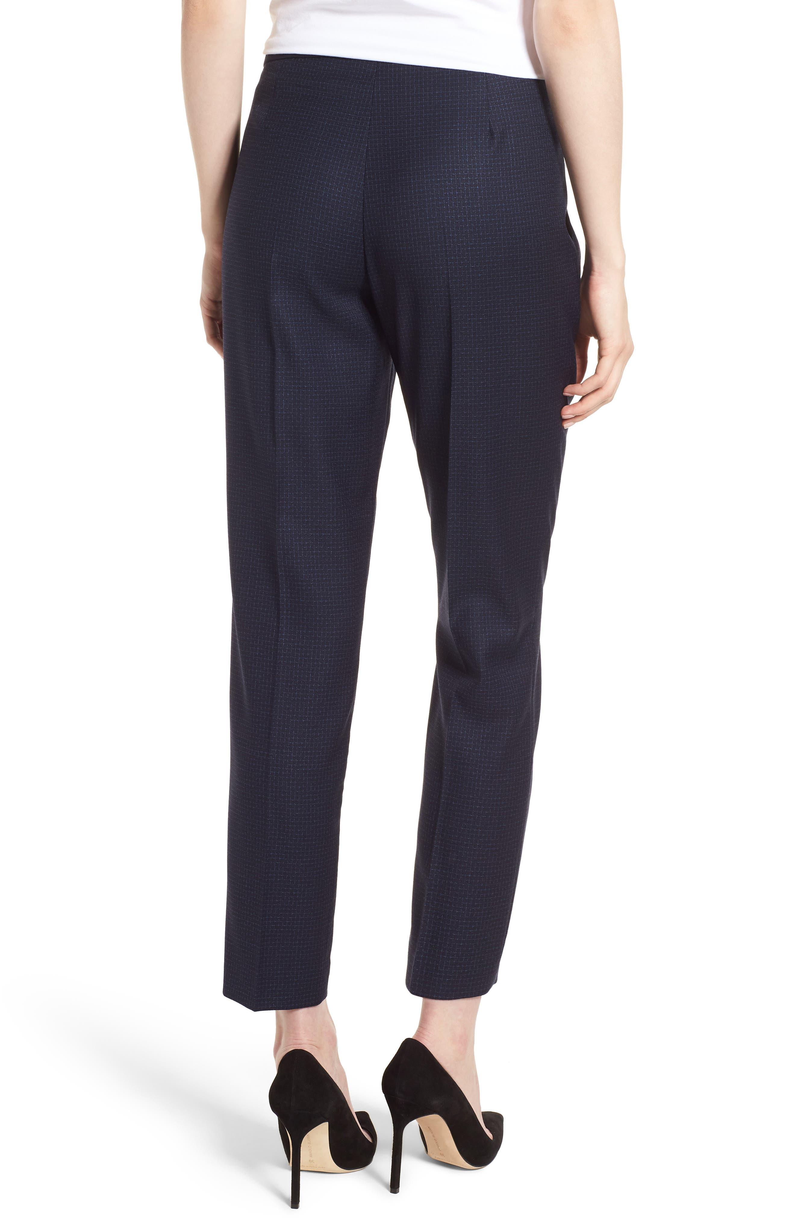 Tiluna Windowpane Slim Leg Trousers,                             Alternate thumbnail 2, color,