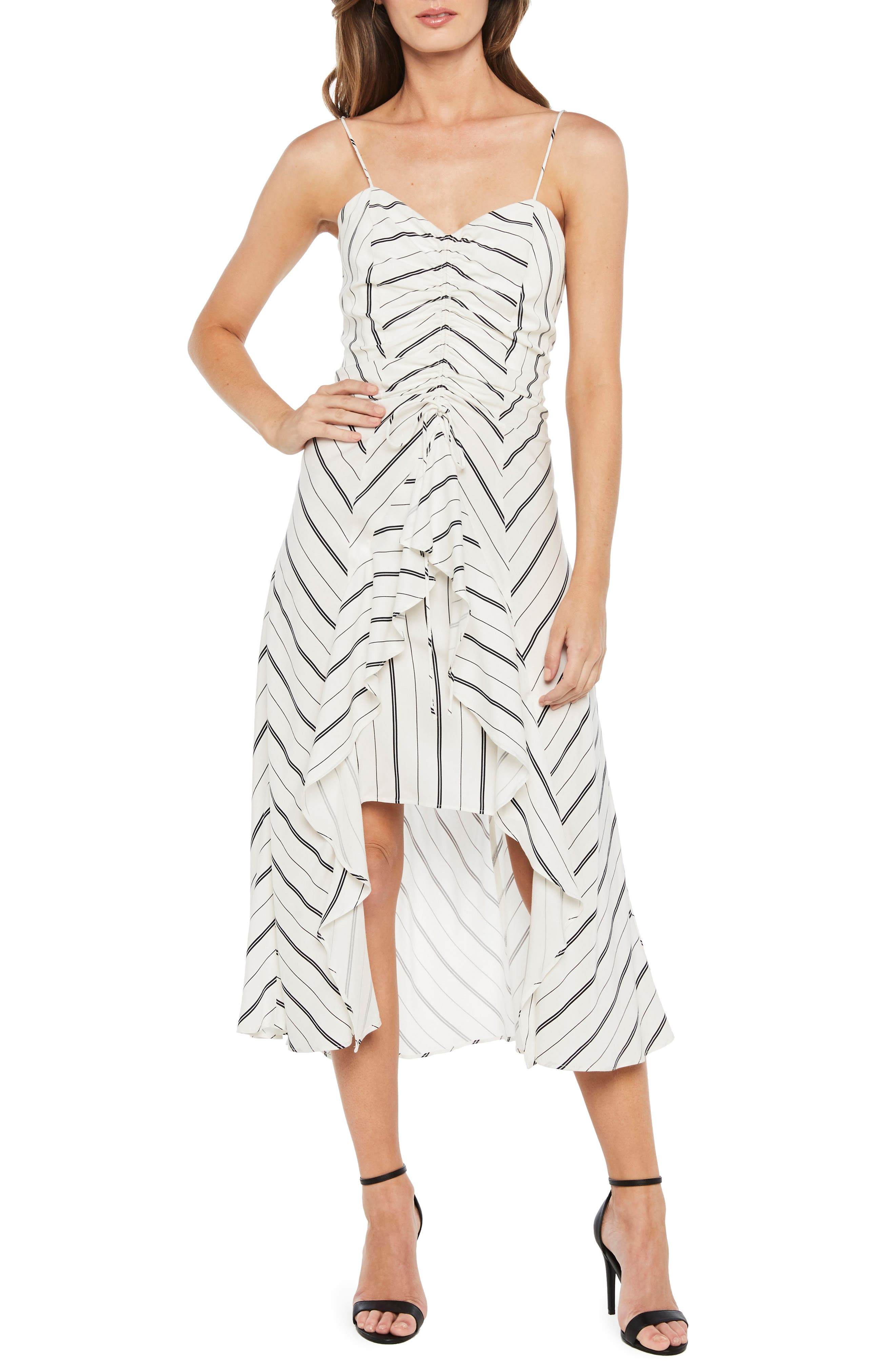 Winona Stripe Ruffle Sundress,                         Main,                         color, 162