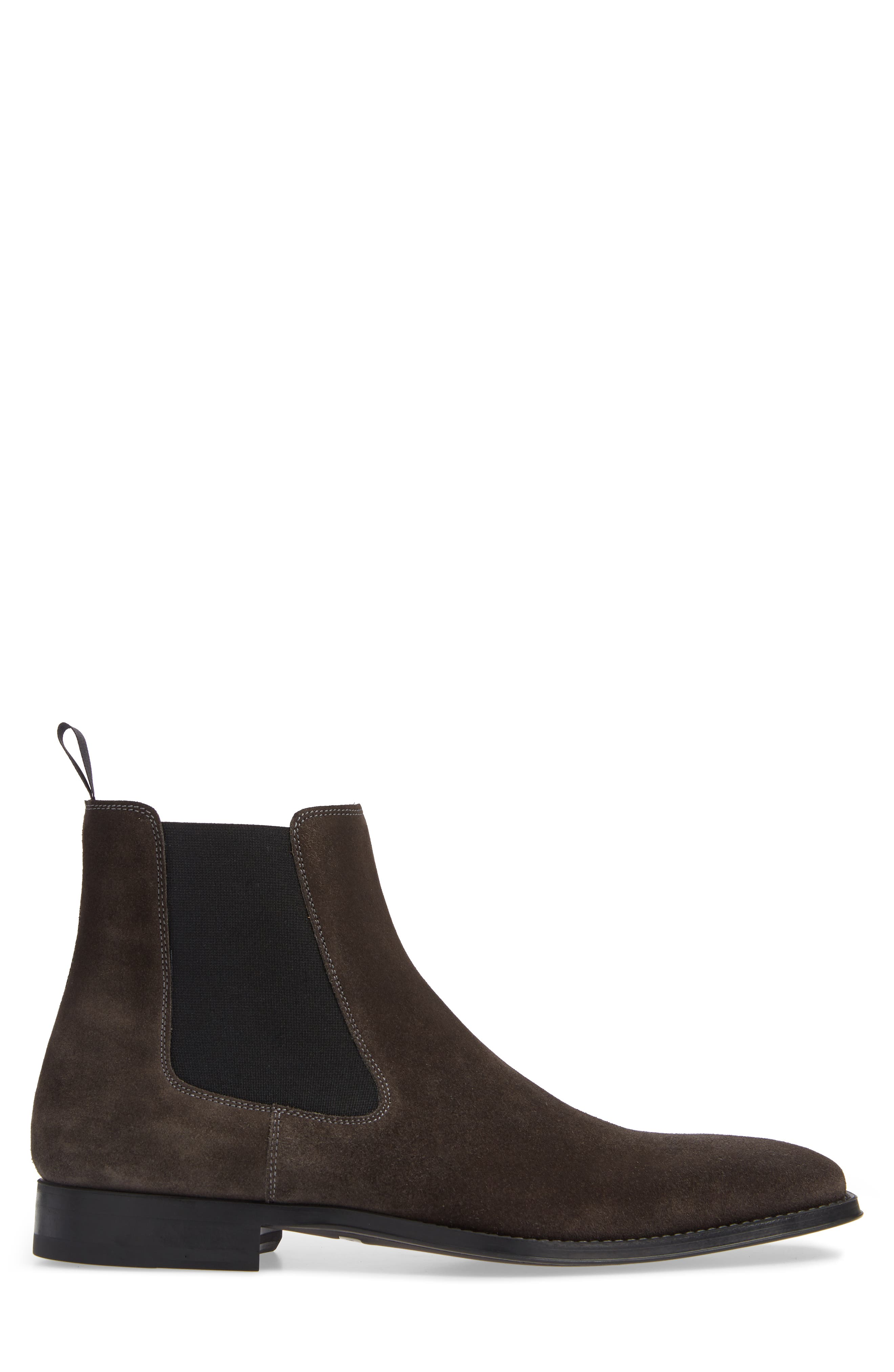 'Sean' Chelsea Boot,                             Alternate thumbnail 3, color,                             GREY LEATHER