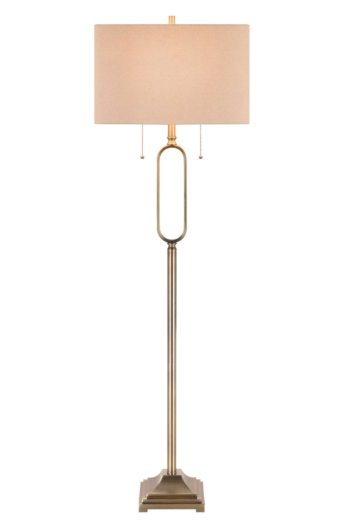 JAlexander Metal Floor Lamp,                             Main thumbnail 1, color,                             METALLIC GOLD