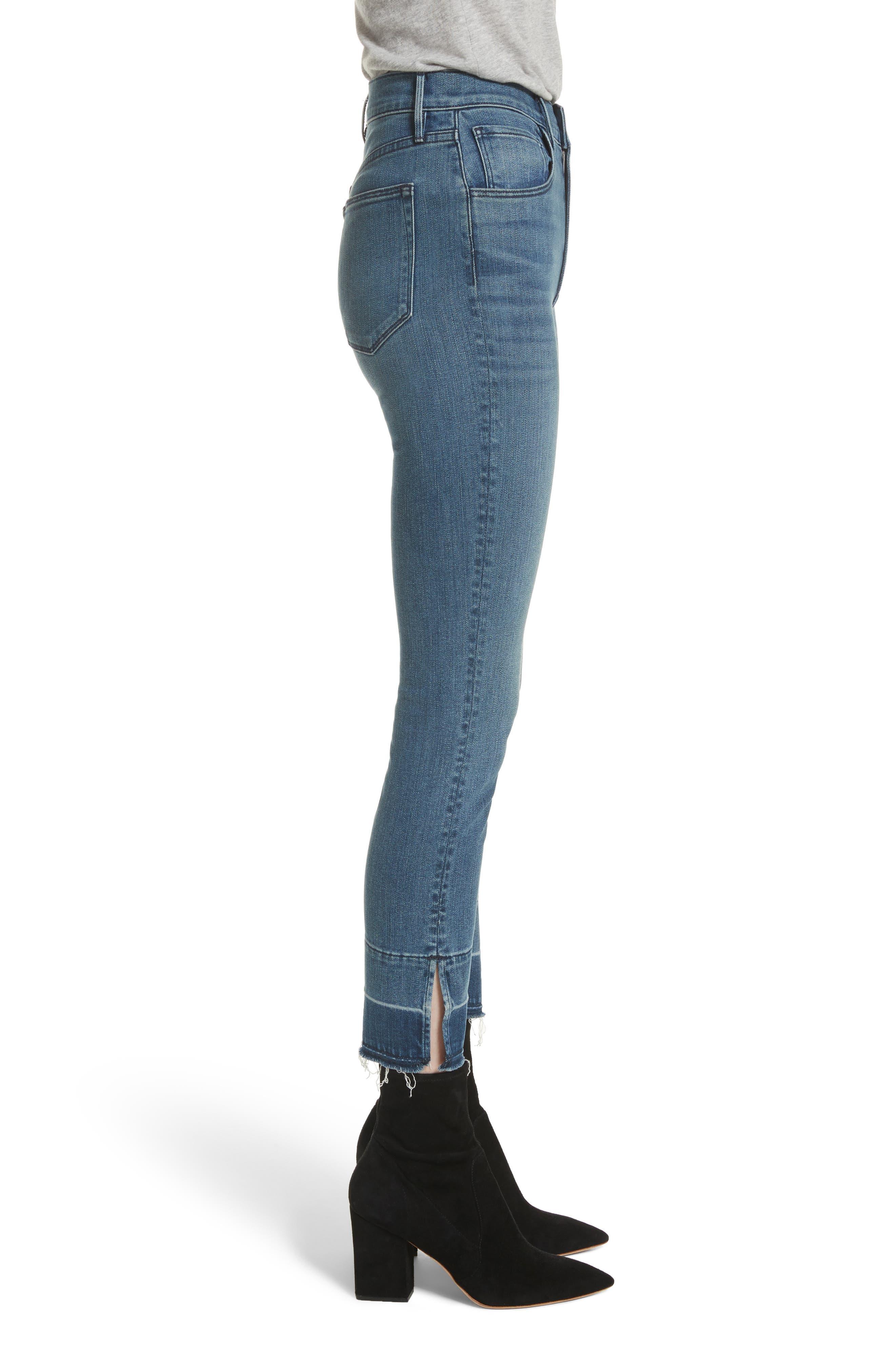 W4 Abigail Released Split Hem Ankle Skinny Jeans,                             Alternate thumbnail 3, color,                             427