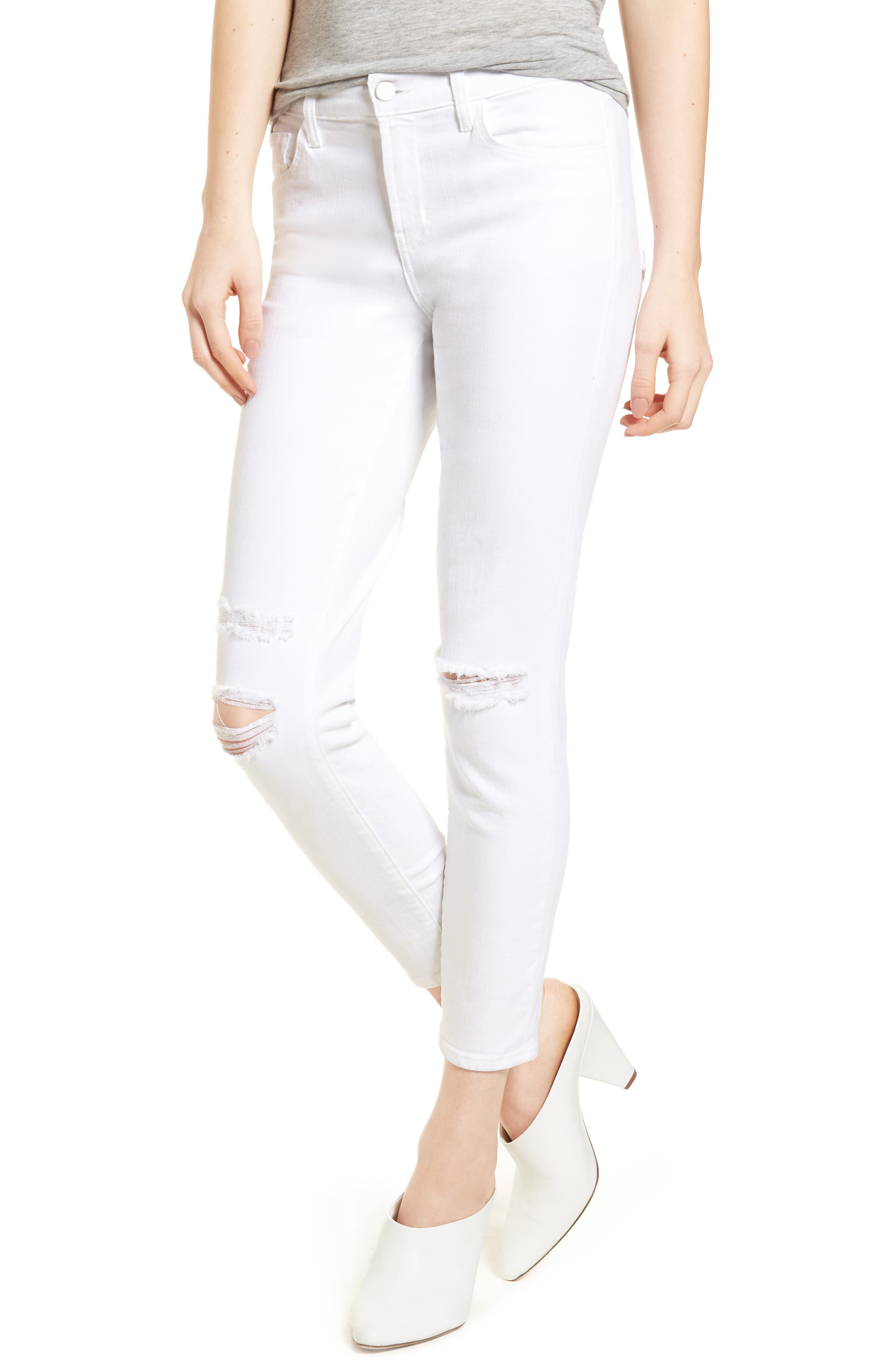 Mid-Rise Capri Skinny Jeans,                         Main,                         color, 101