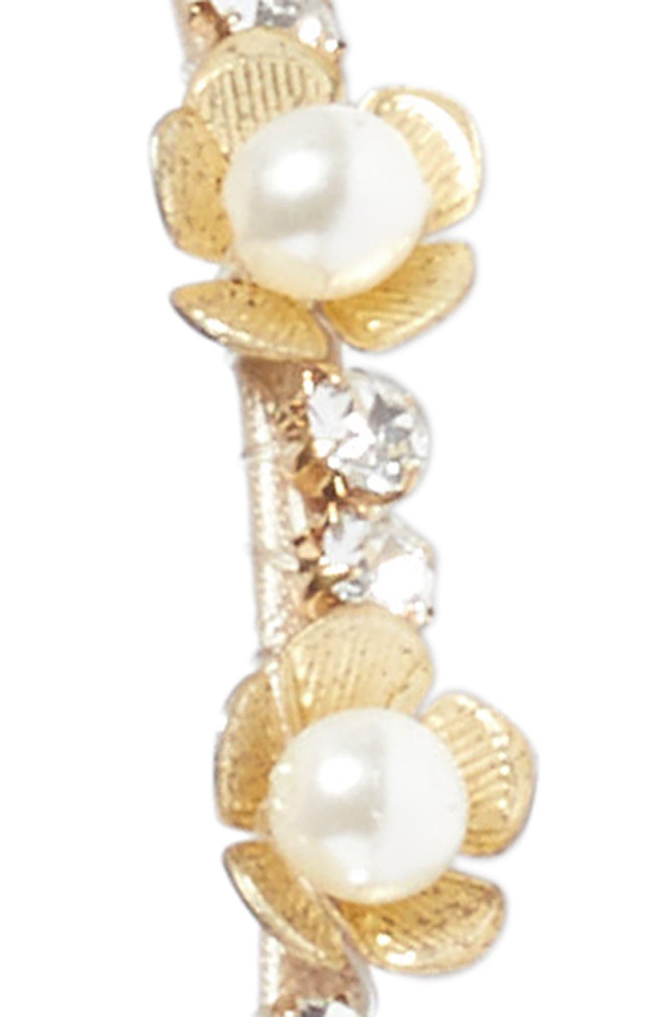 Rhinestone & Imitation Pearl Flower Headband,                             Alternate thumbnail 2, color,