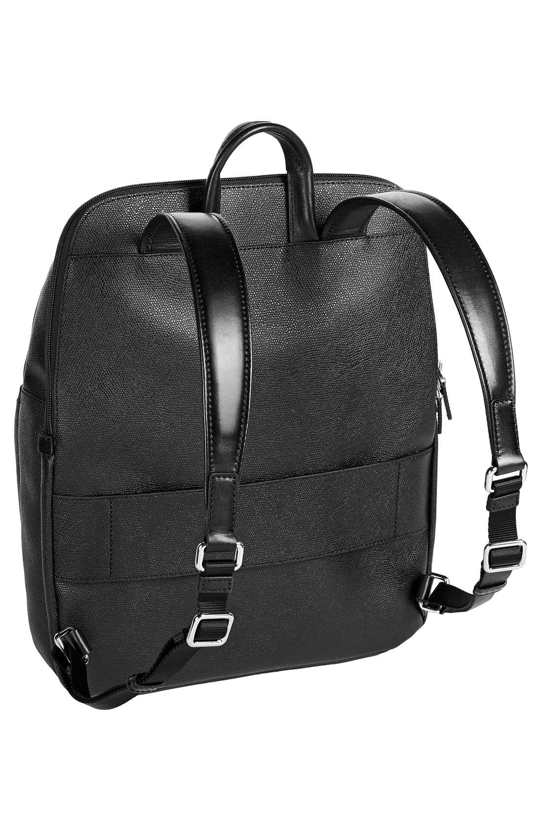 'Sinclair Harlow' Coated Canvas Laptop Backpack,                             Alternate thumbnail 3, color,                             002