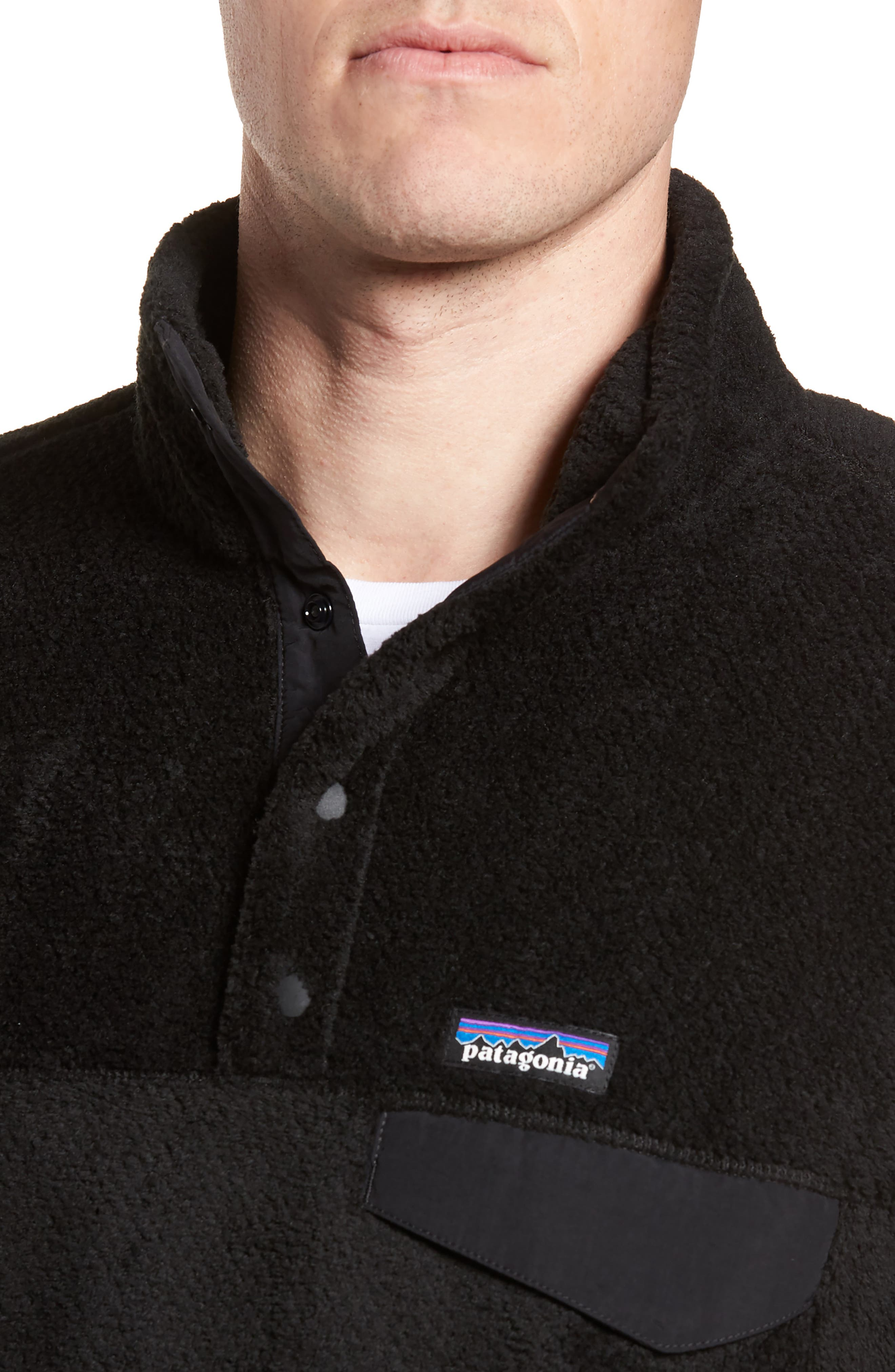 Re-Tool Snap-T<sup>®</sup> Pullover,                             Alternate thumbnail 4, color,                             BLACK