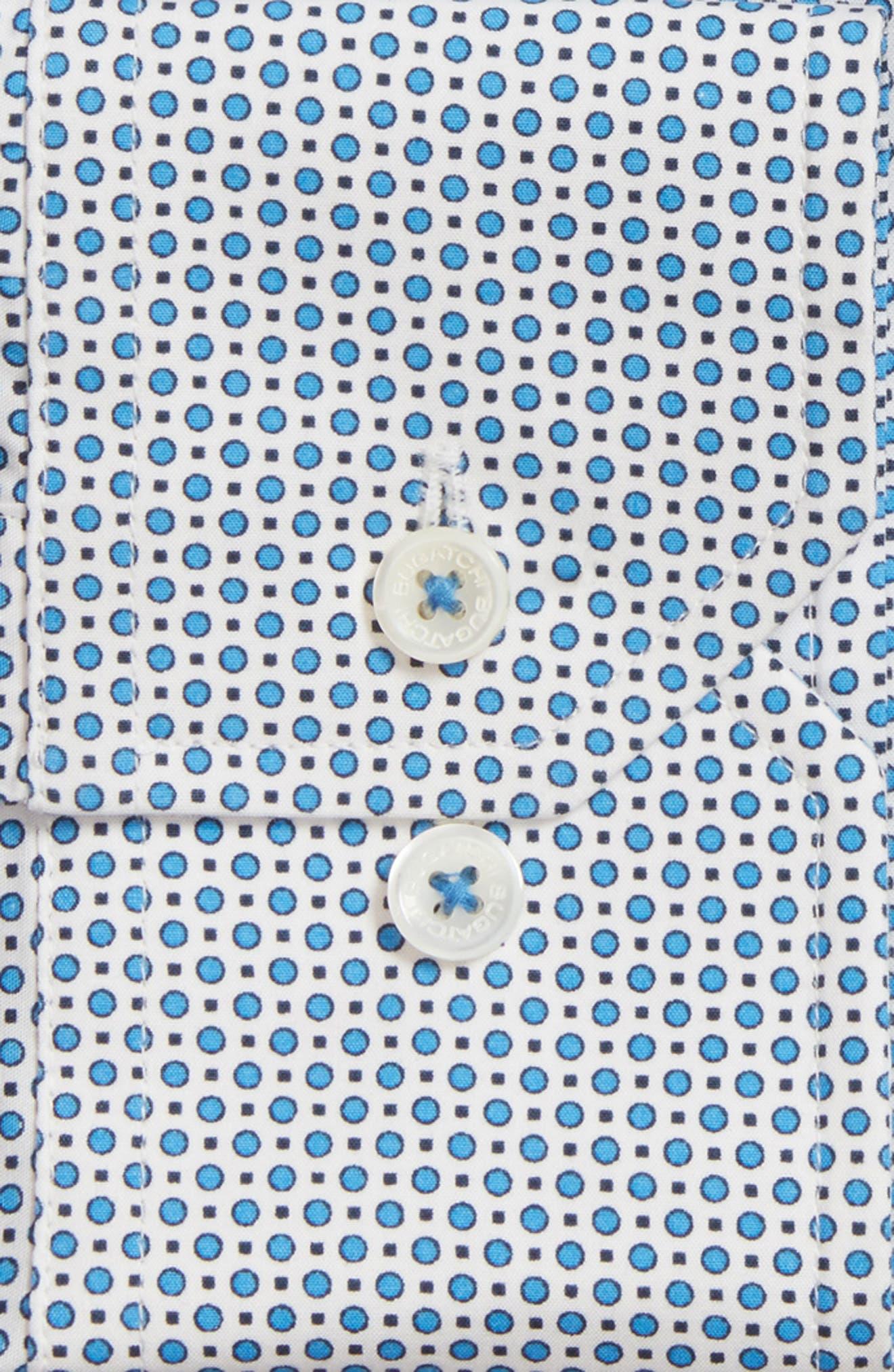 Trim Fit Dot Dress Shirt,                             Alternate thumbnail 2, color,
